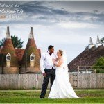 Portrait of Bride and Groom at Hope Farm, Kent