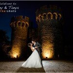 Portrait by Parkershots of Bride and Groom at Cooling Castle Barn