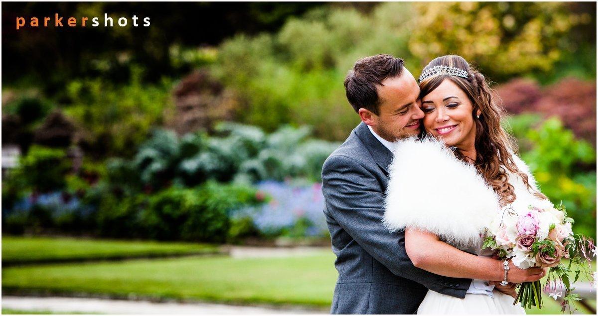 Gravetye Manor Preffered wedding photographer's Portrait of Bride & Groom