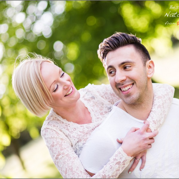 Natalie and Mus' Engagement Portrait - Tunbridge Wells