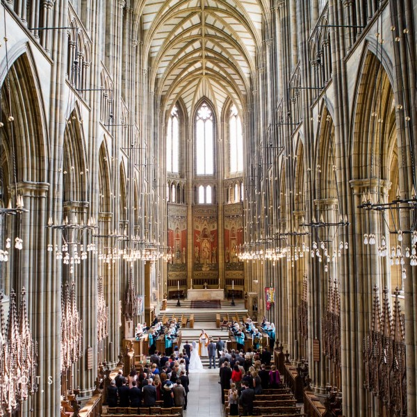 Olena & Spencer's Wedding at Lancing College Chapel