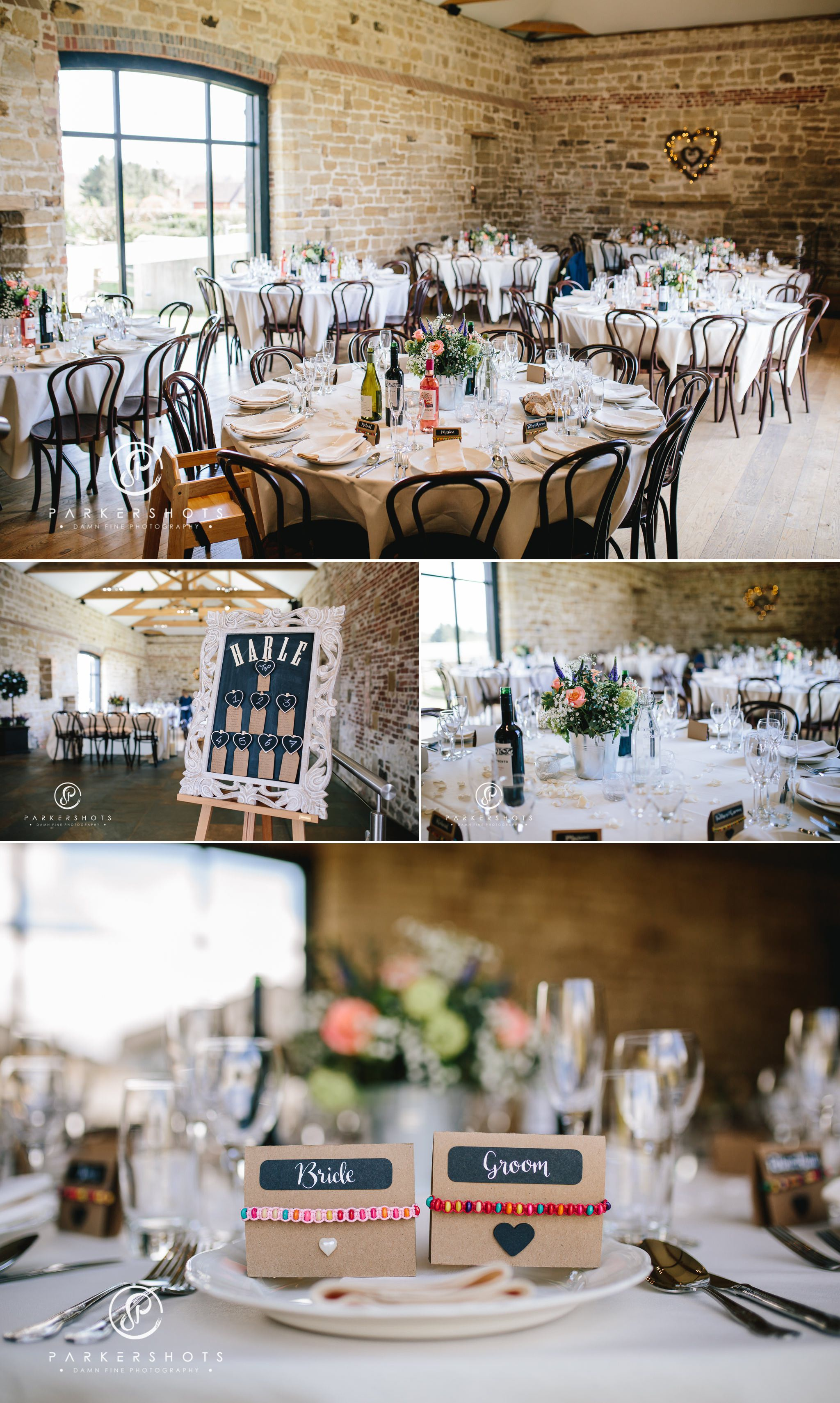wedding breakfast at Hendall Manor