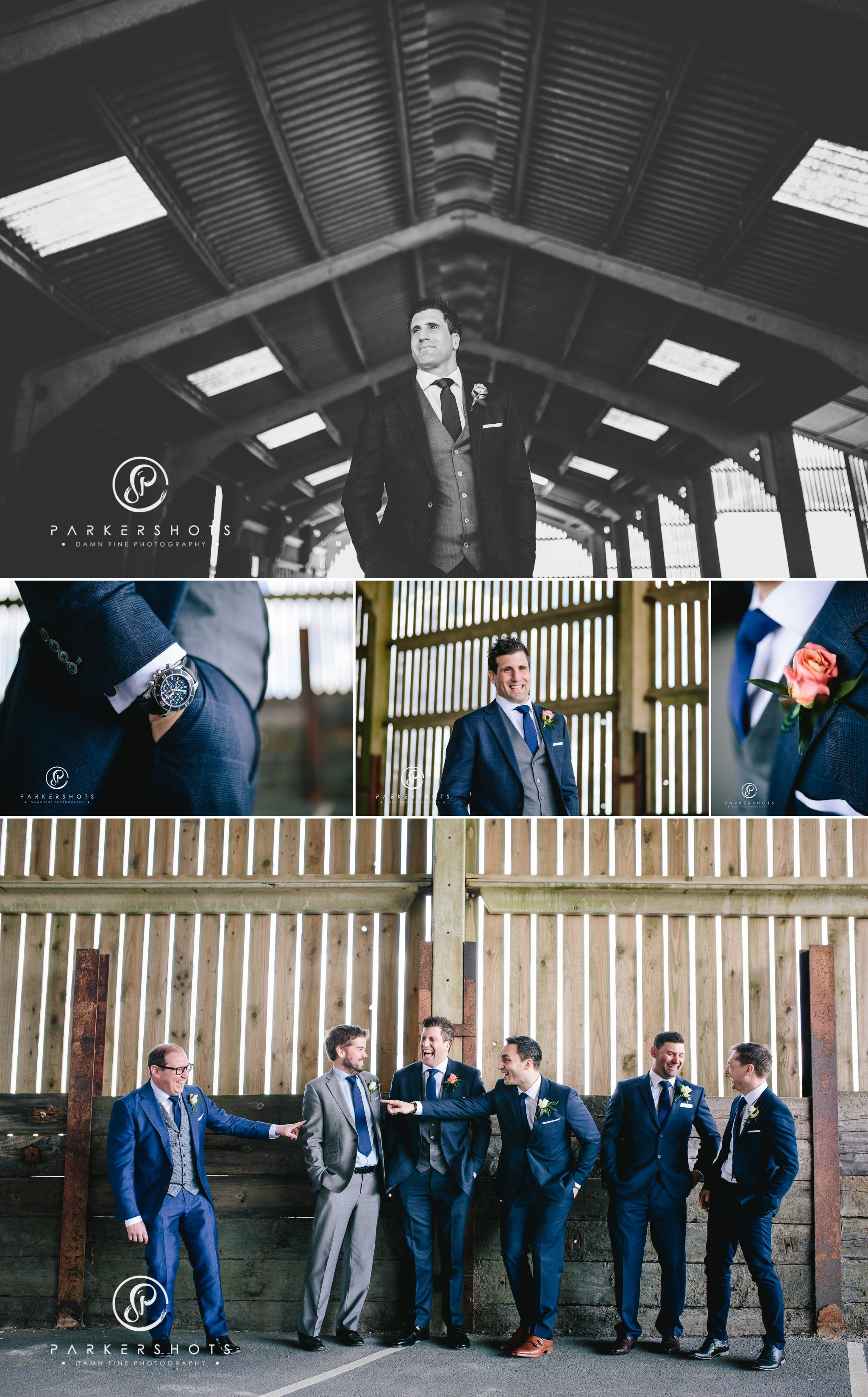 Wedding Photography of Groomsmen at Hendall Manor