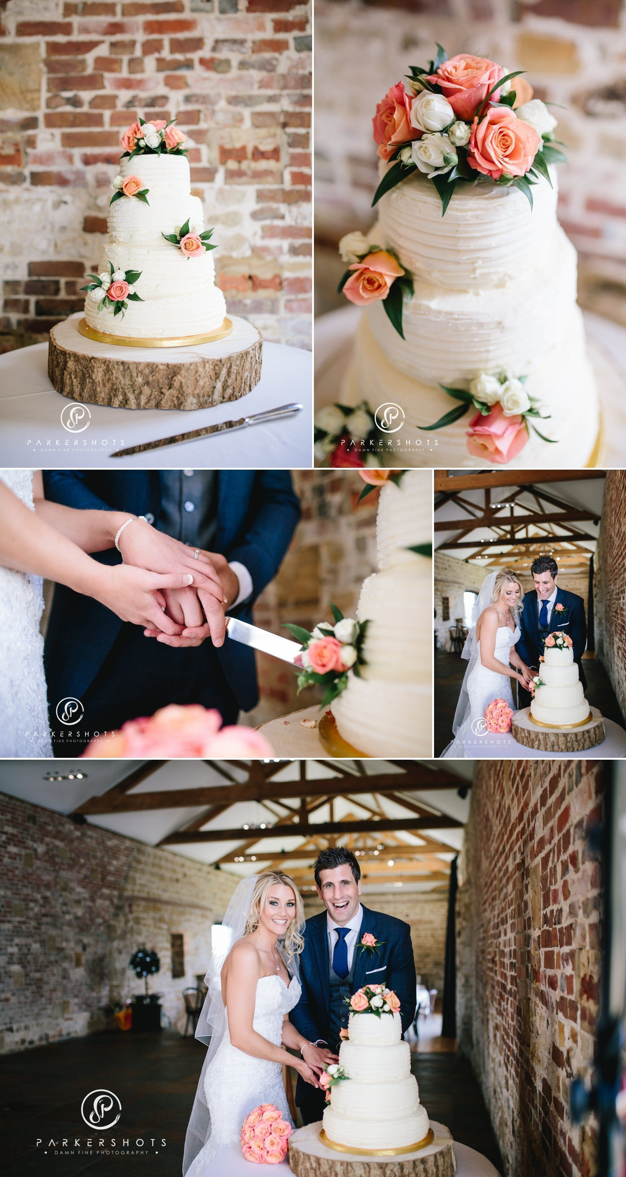Wedding photography of cake