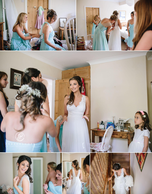 Bride in dress in Kent