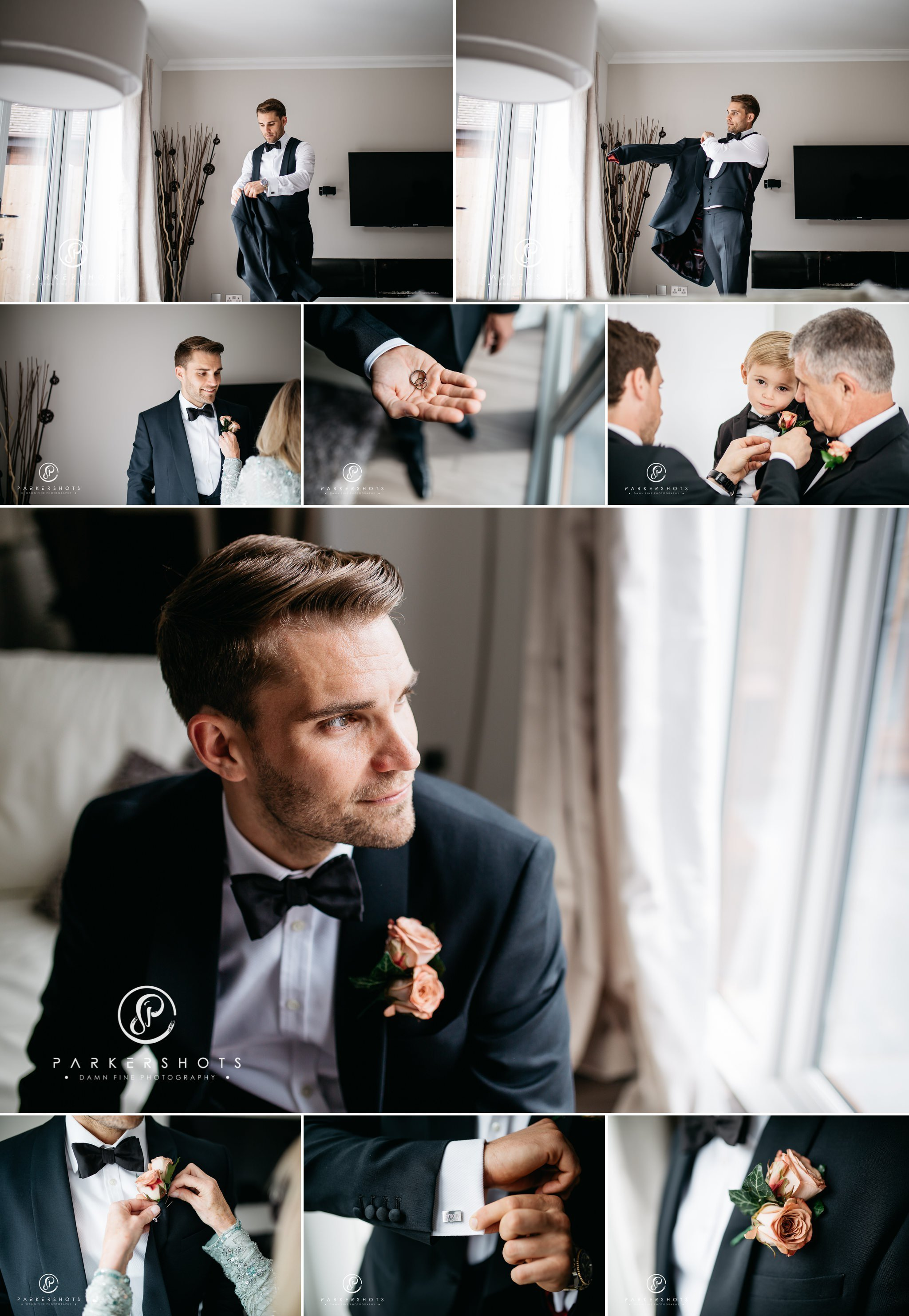 Portraits of Groom before Leeds Castle wedding