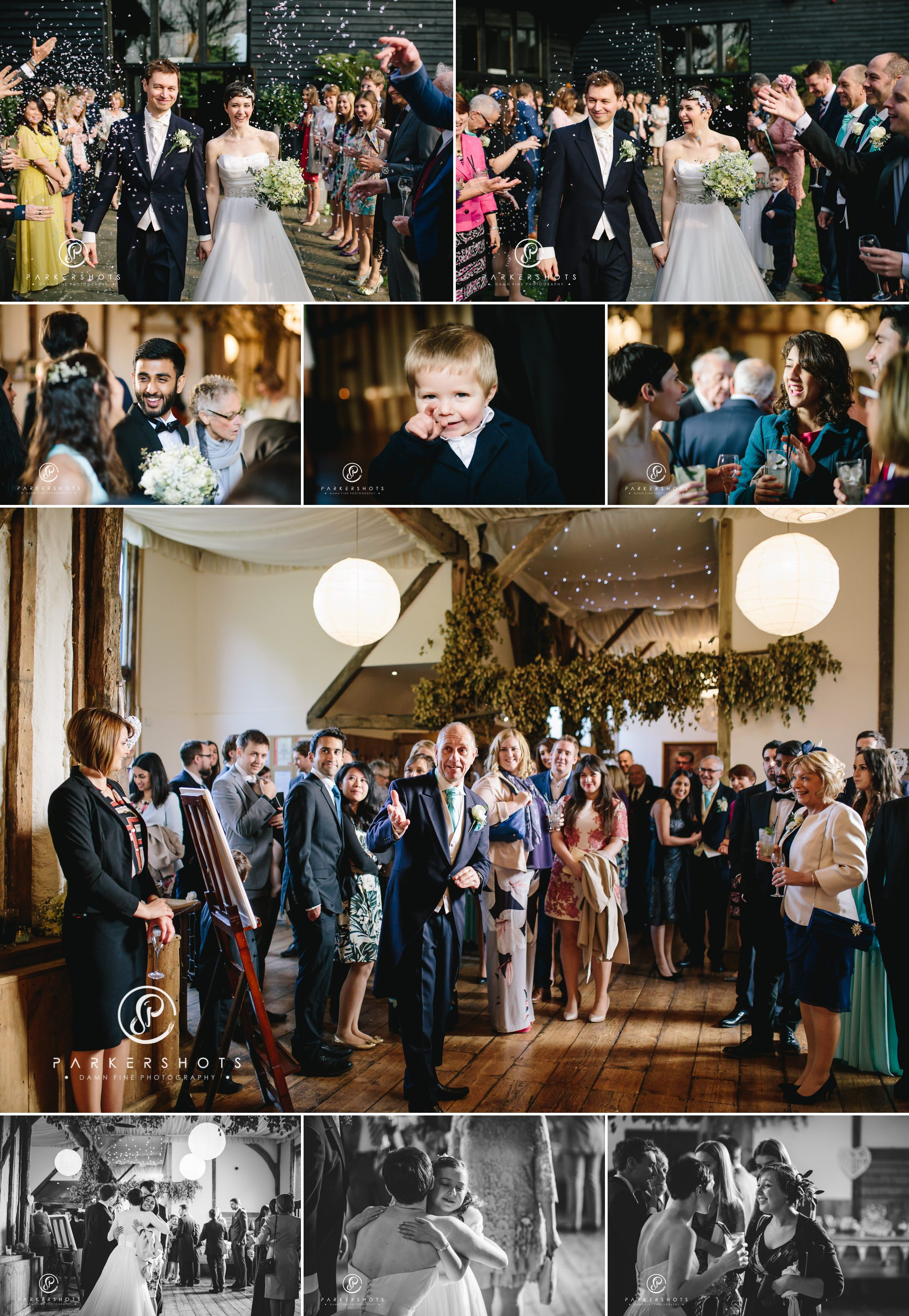 The wedding reception at Winters Barns