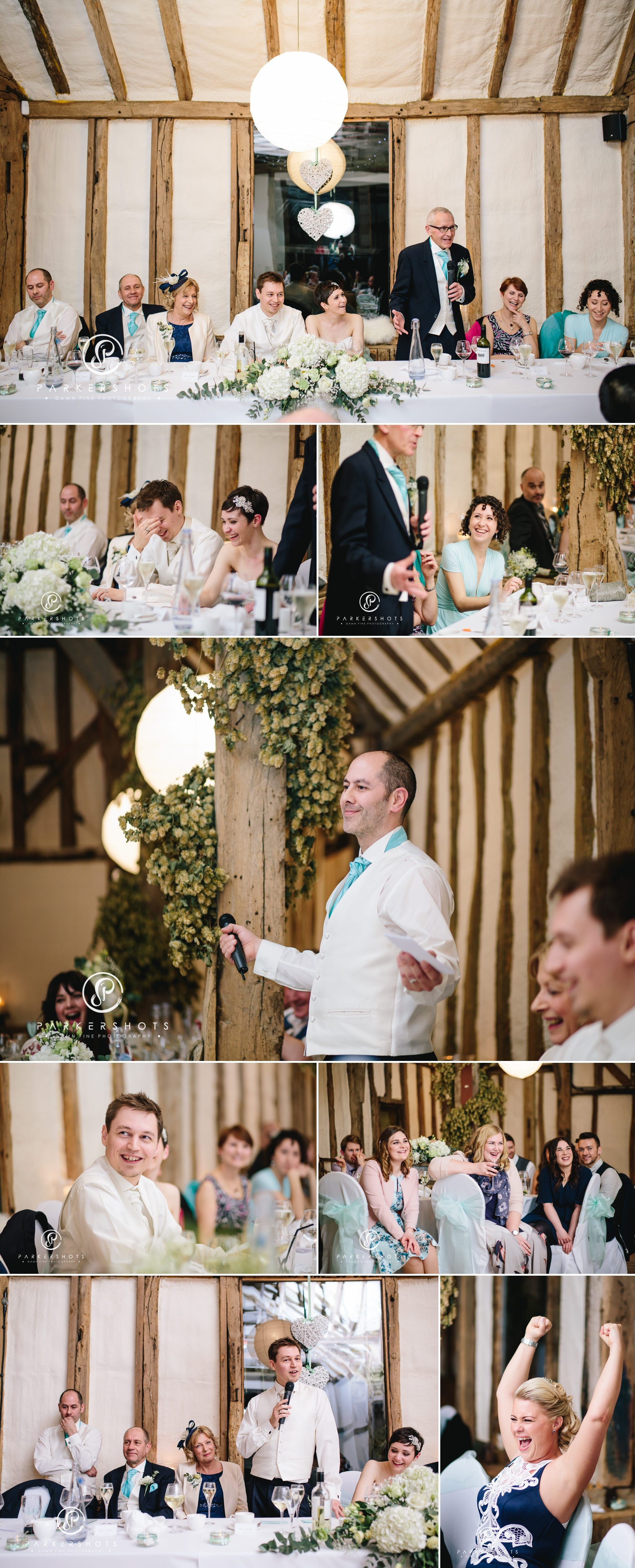 Wedding speeches at Winters Barns