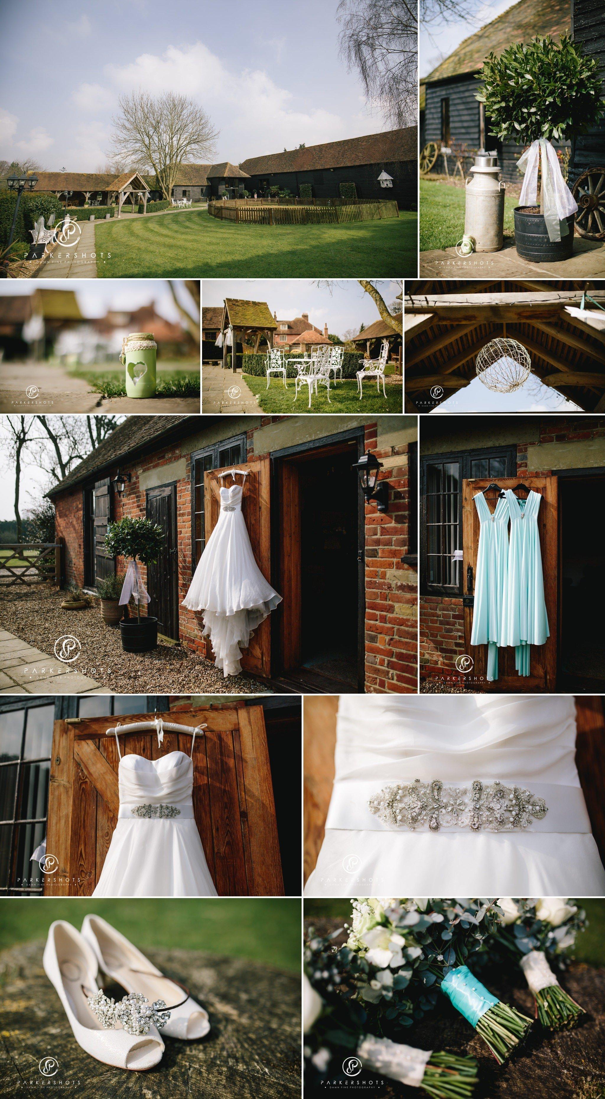 Wedding Photography of bridal details at Winters Barns