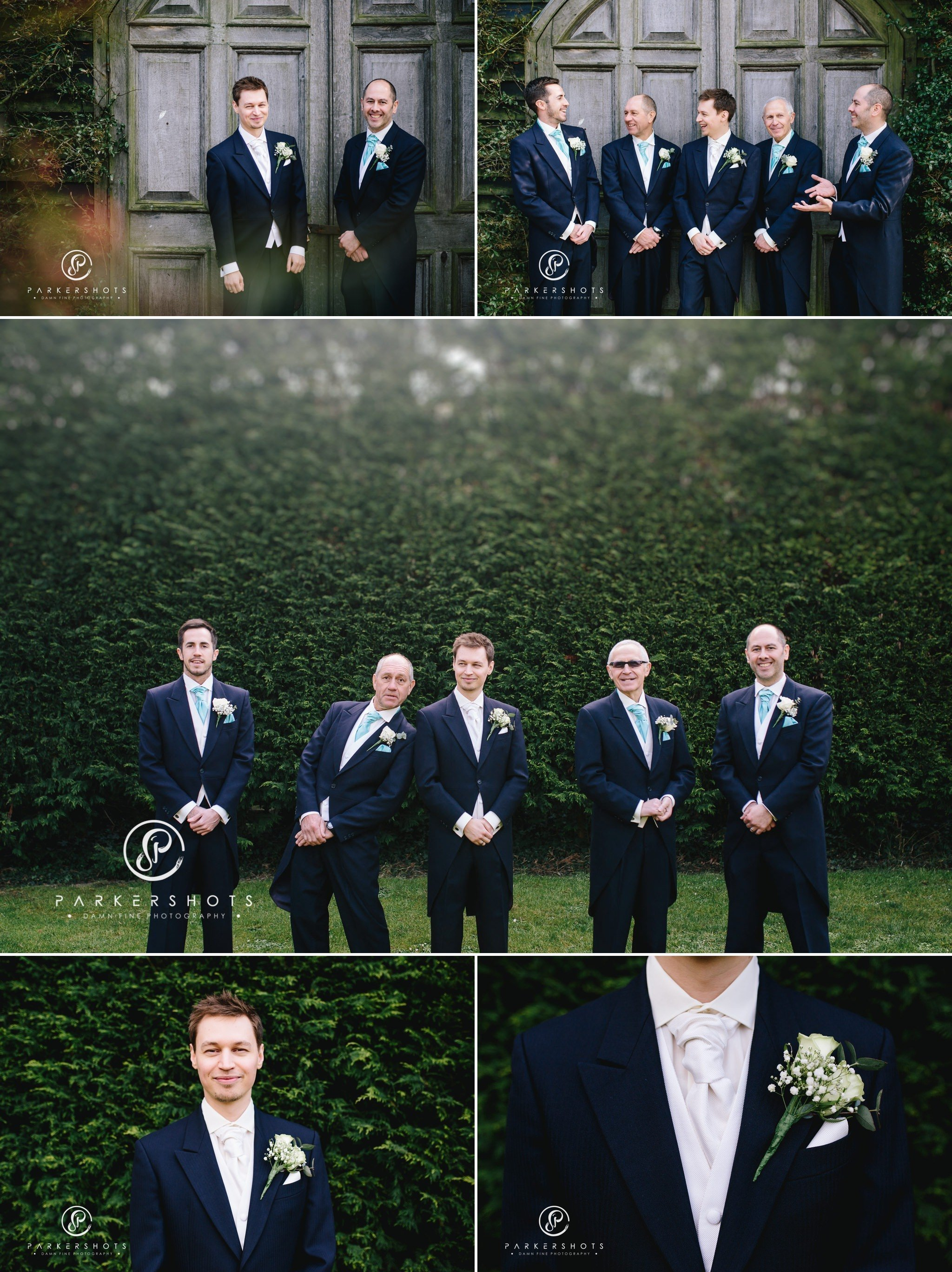 The groomsmen at Winters Barns