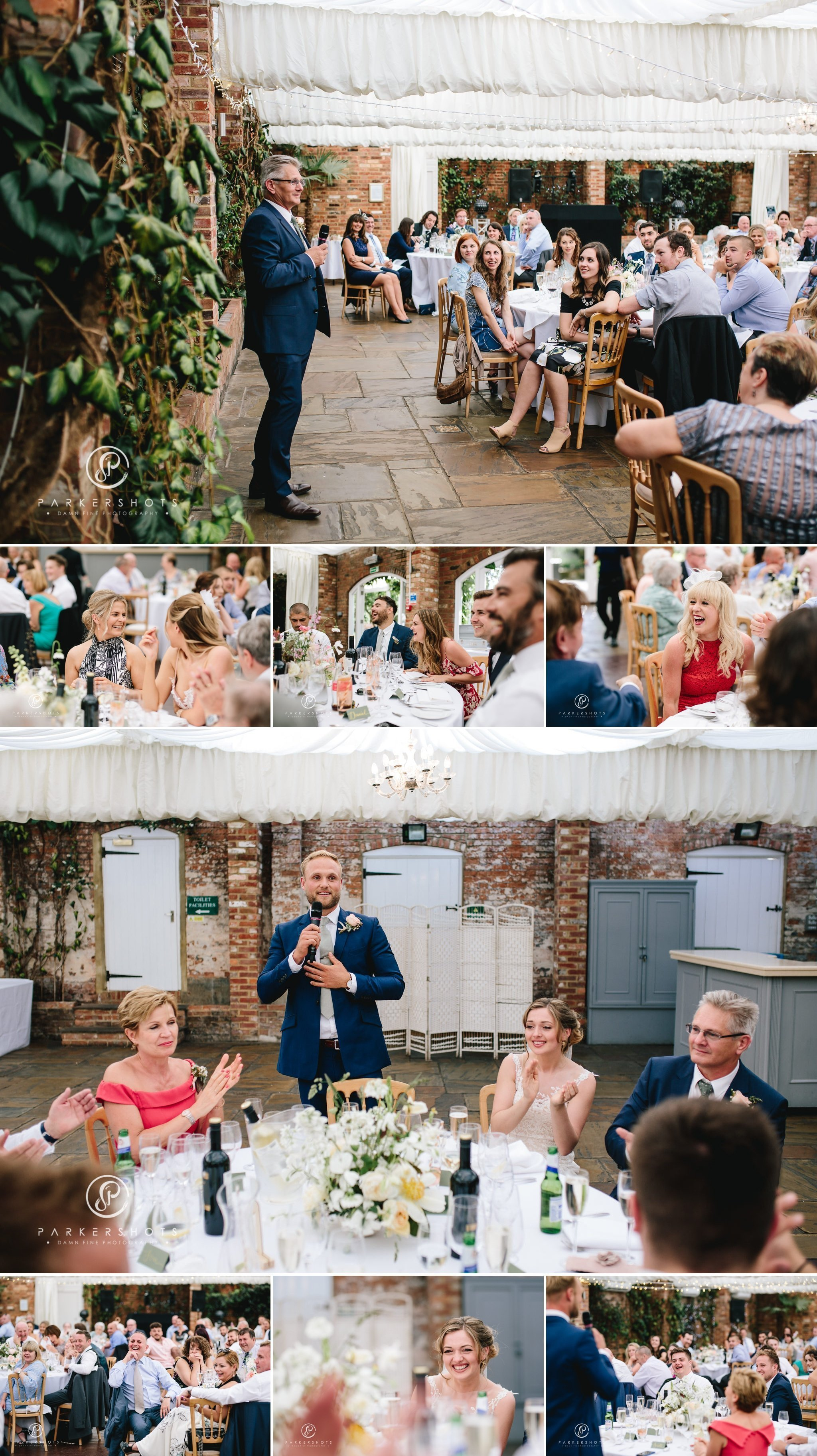 wedding speeches at Northbrook park