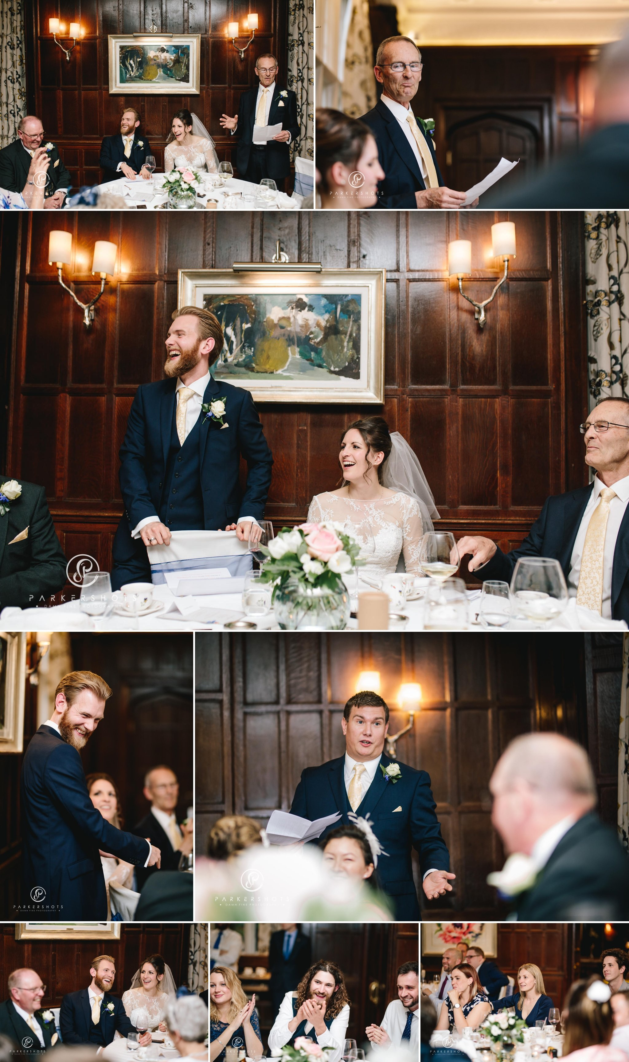 wedding speeches at Gravetye Manor