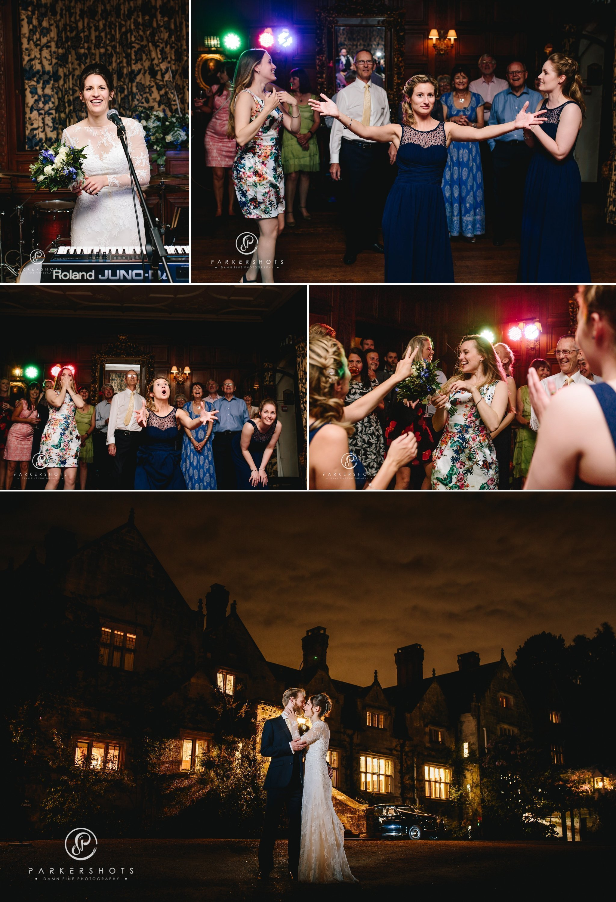 first dance and celebrations of wedding at Gravetye Manor