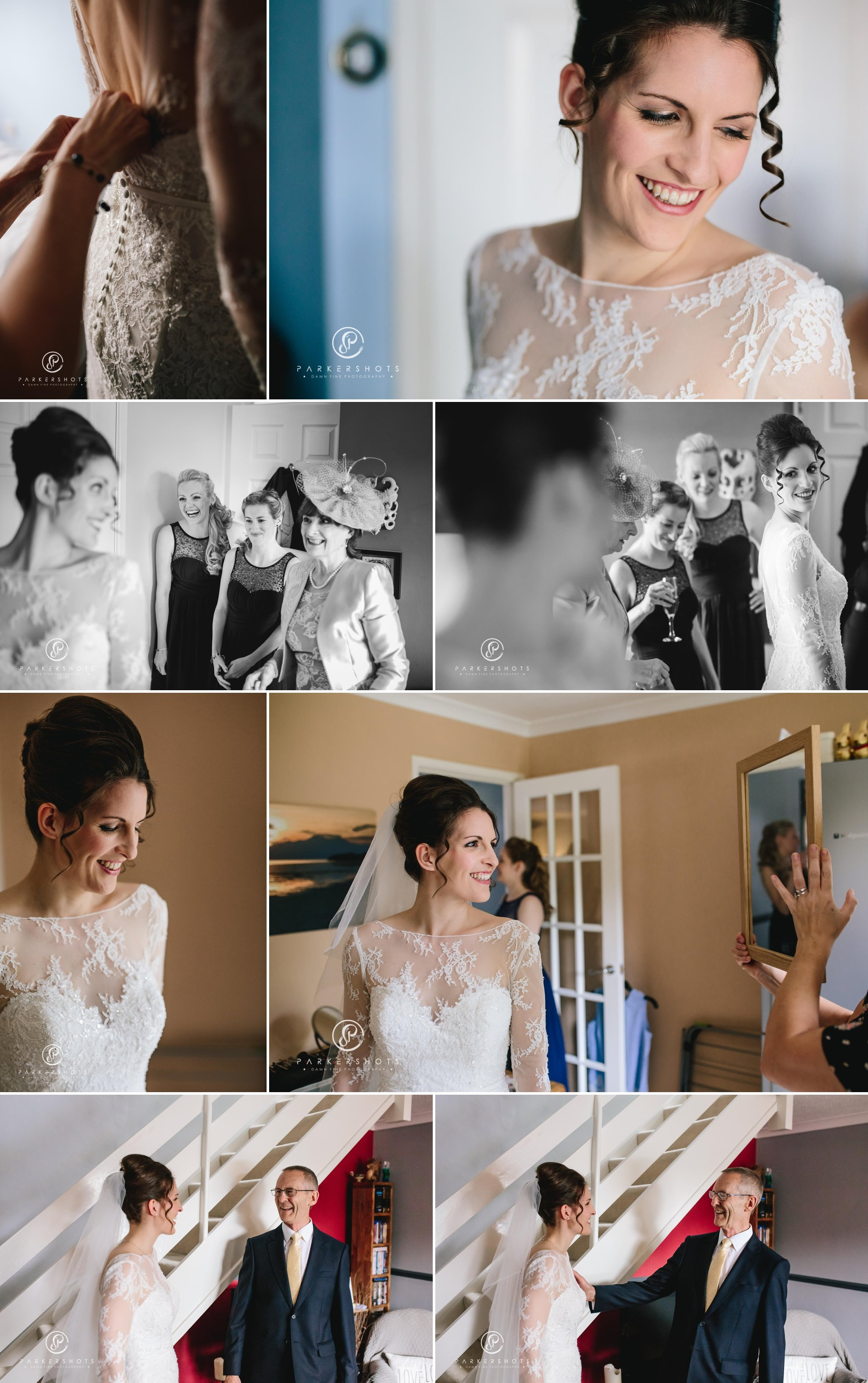 Bridal prep photography and portraits for wedding at Gravetye Manor