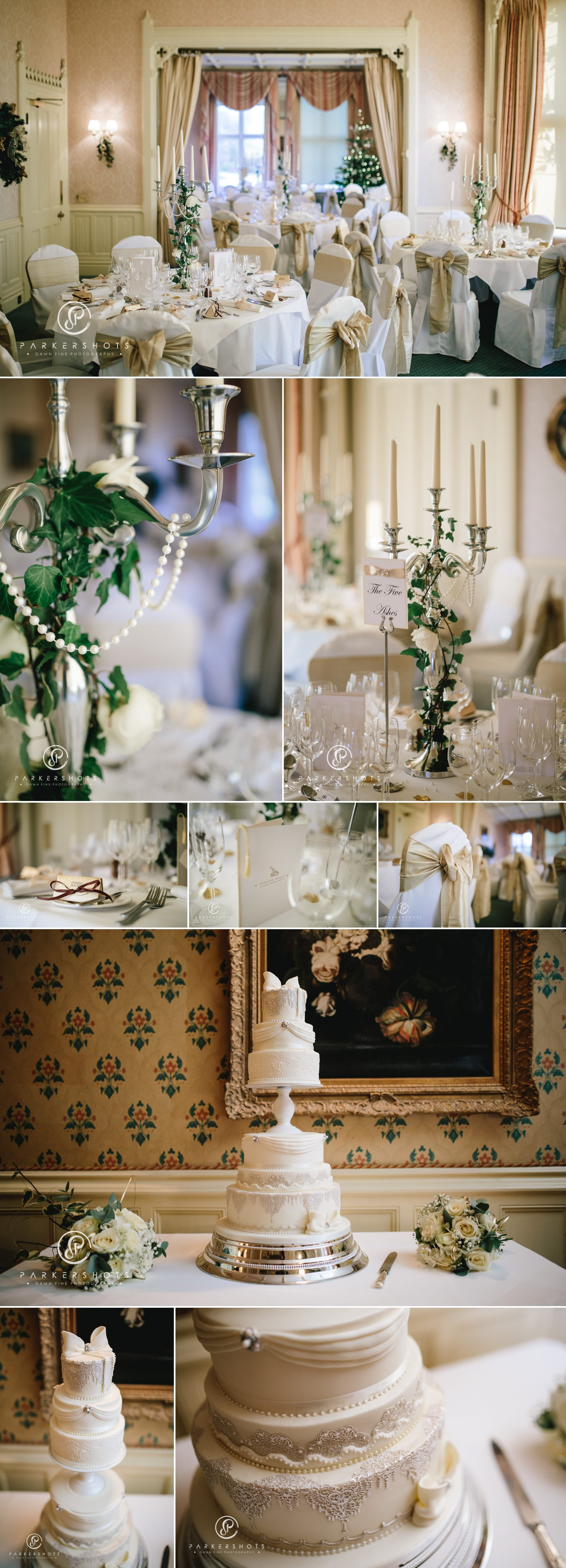 Wedding breakfast room at Horsted Place