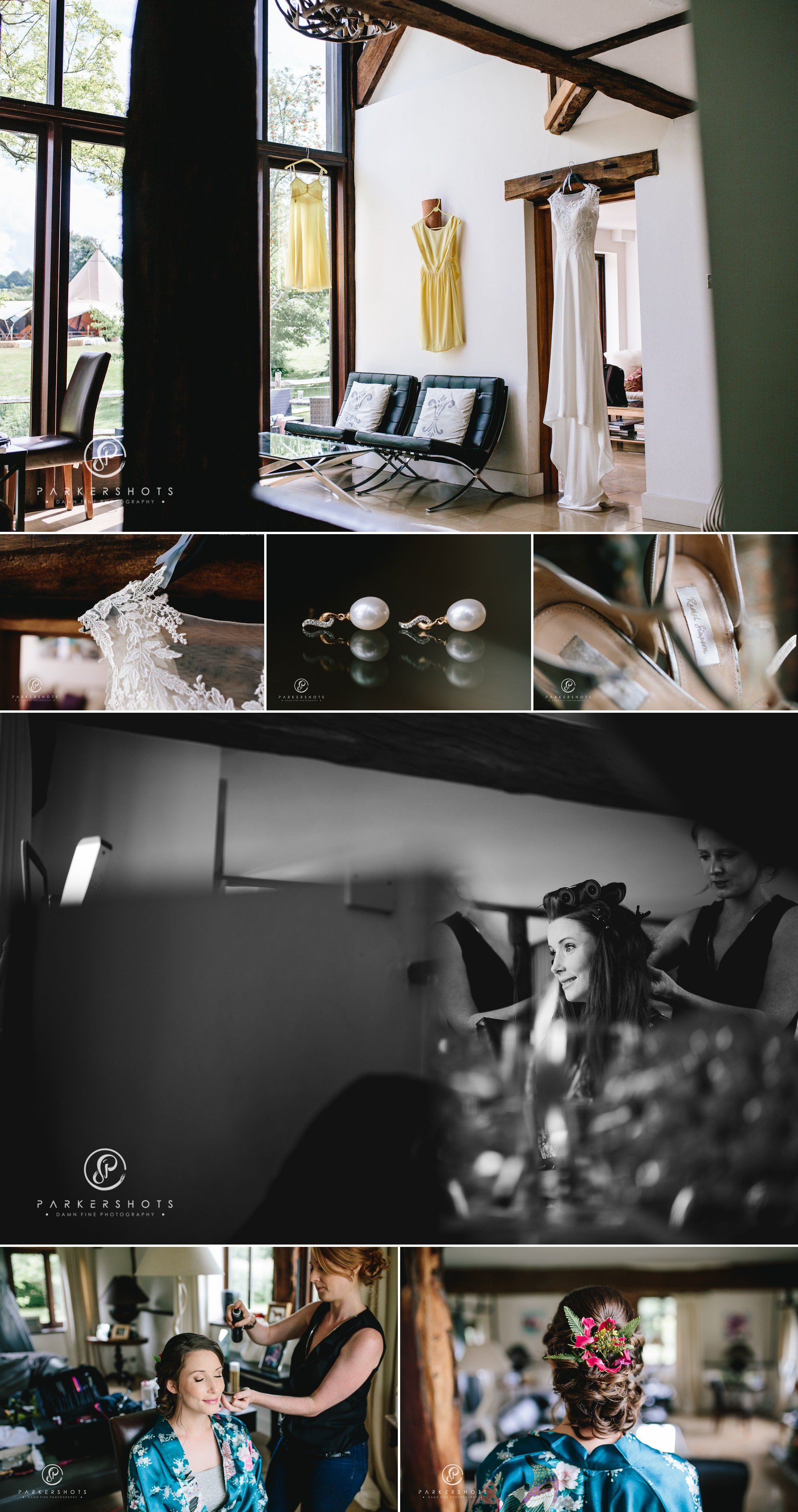 Bridal prep photography at Chafford Park