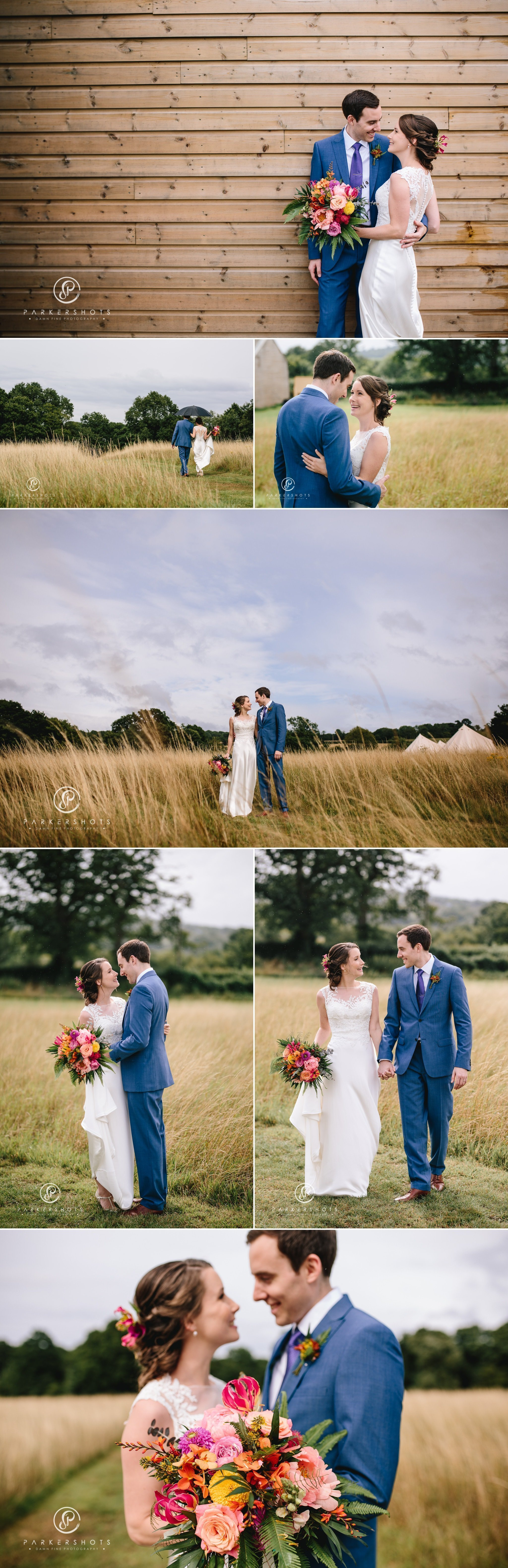 Alternative wedding photography at Chafford Park