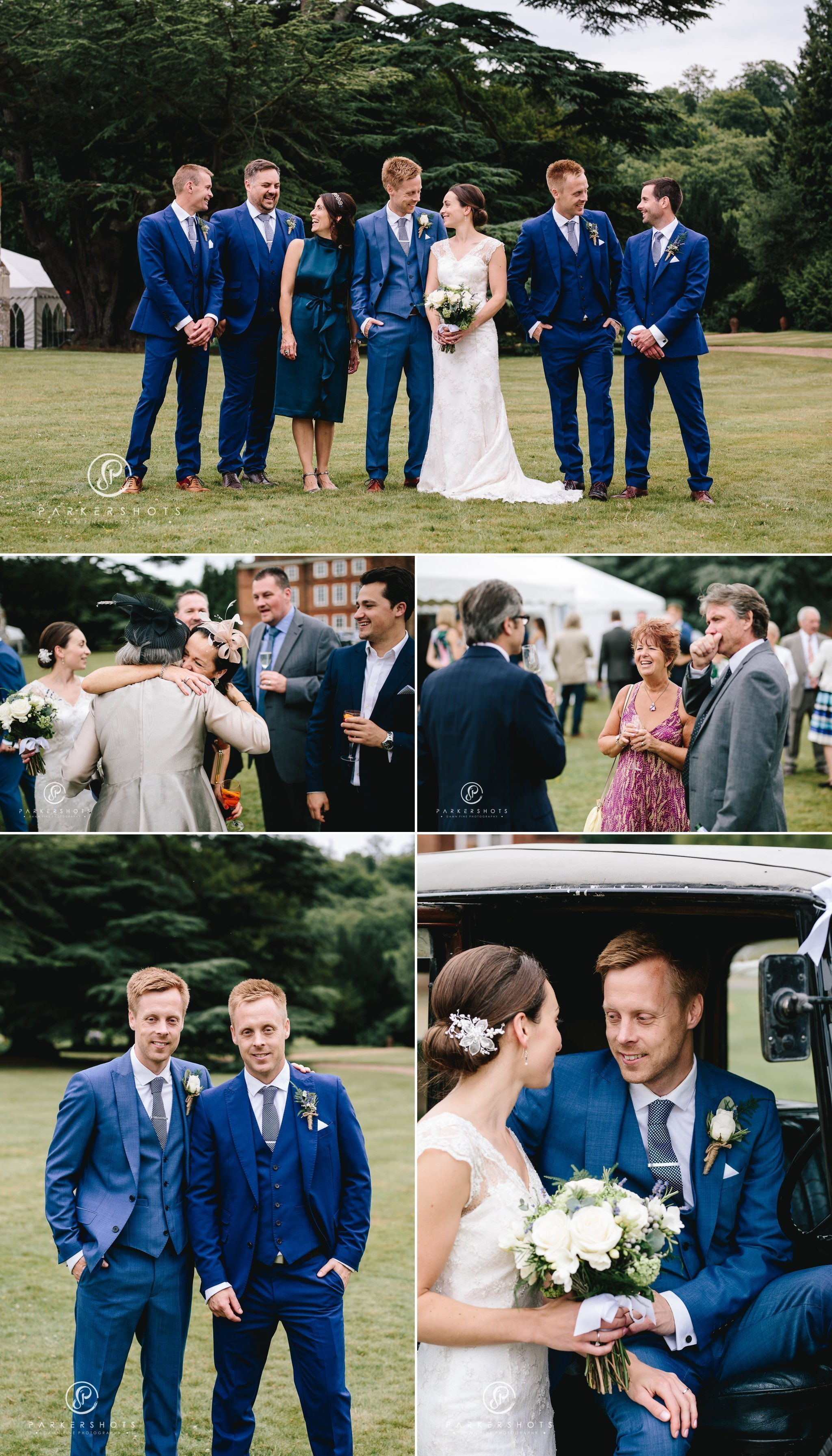 Wedding party at Lullingstone Castle