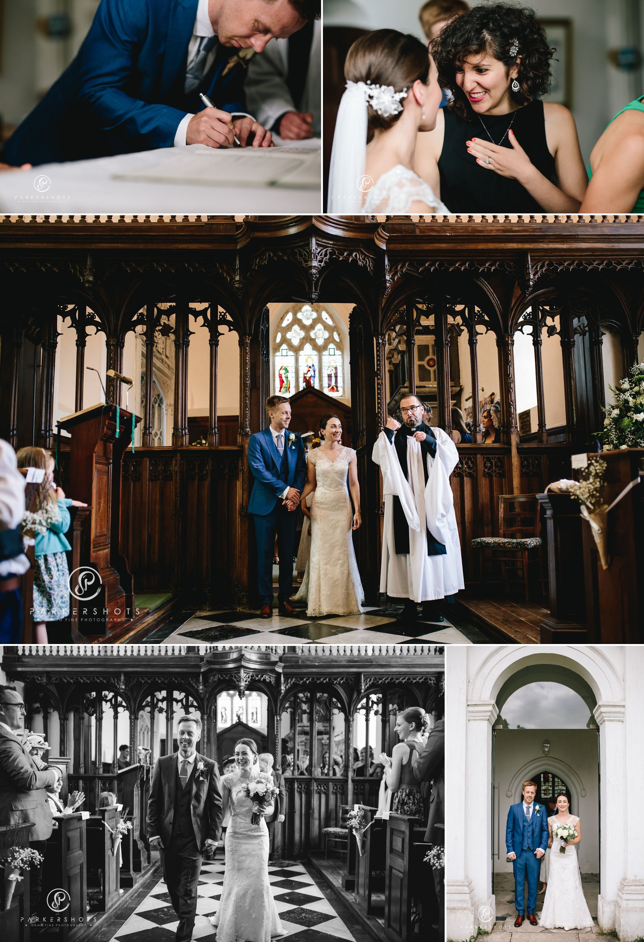 Wedding photography of ceremony at Lullingstone Castle