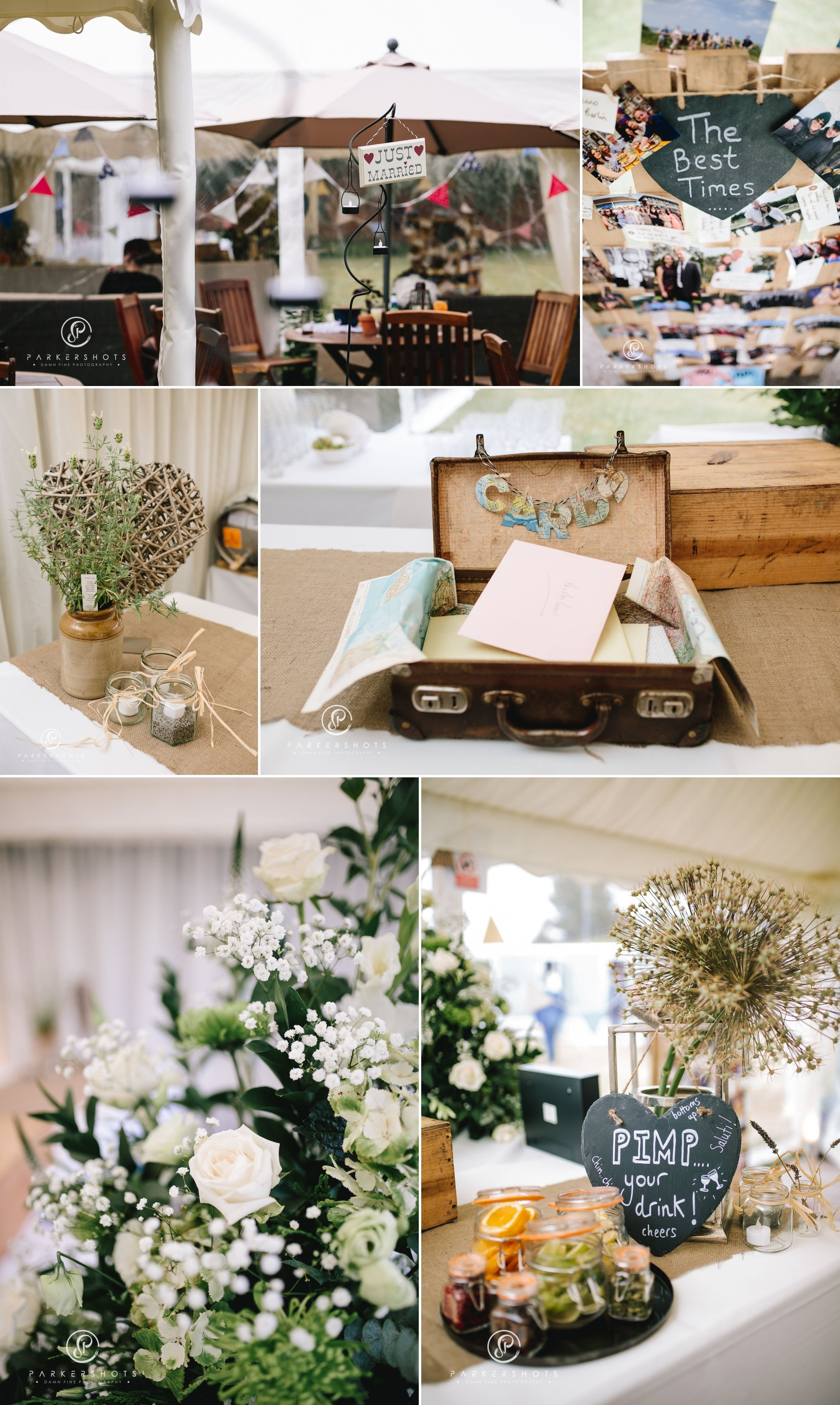 Wedding details for wedding at Lullingstone Castle