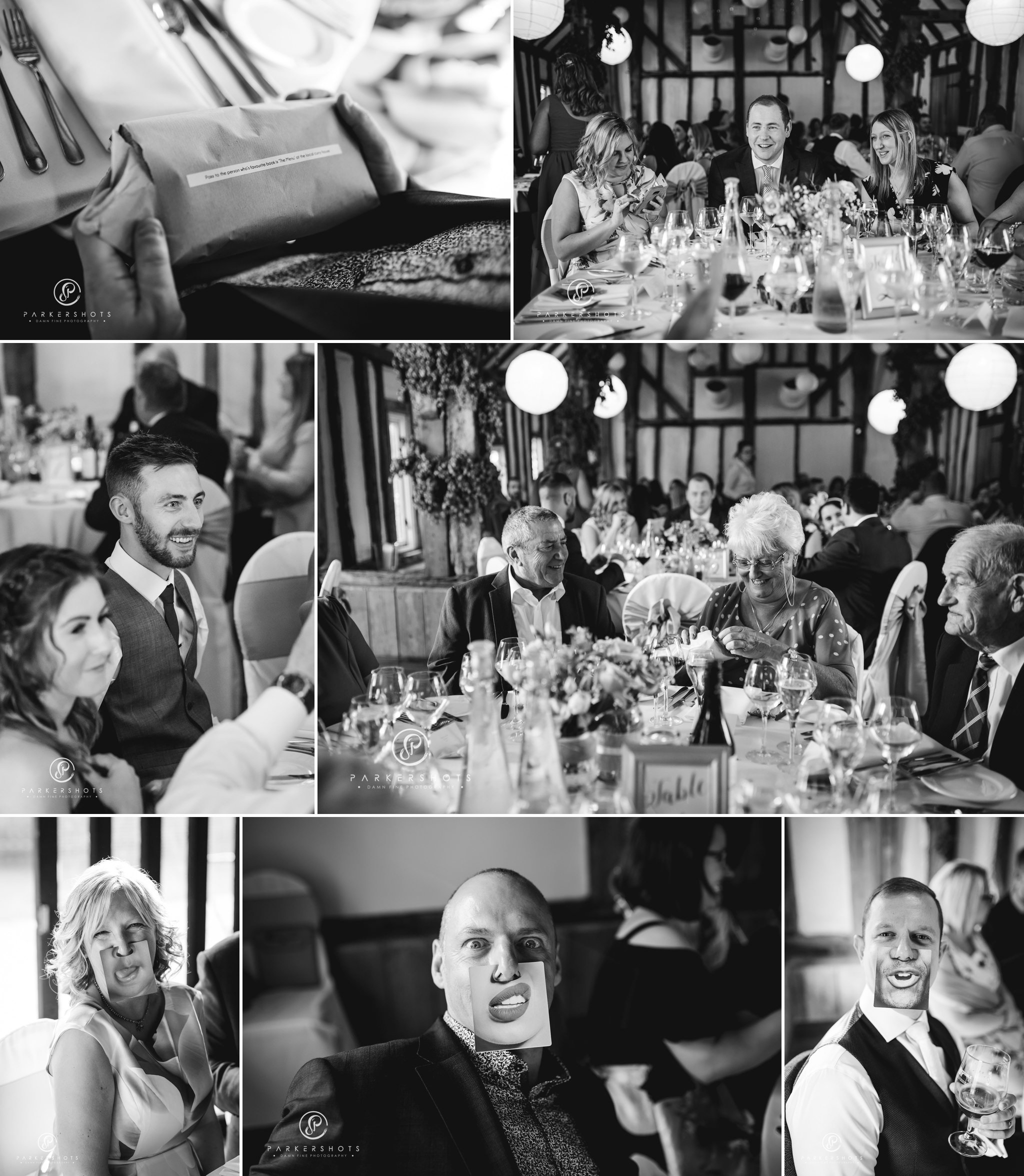 Documentary wedding photography of guests before wedding breakfast