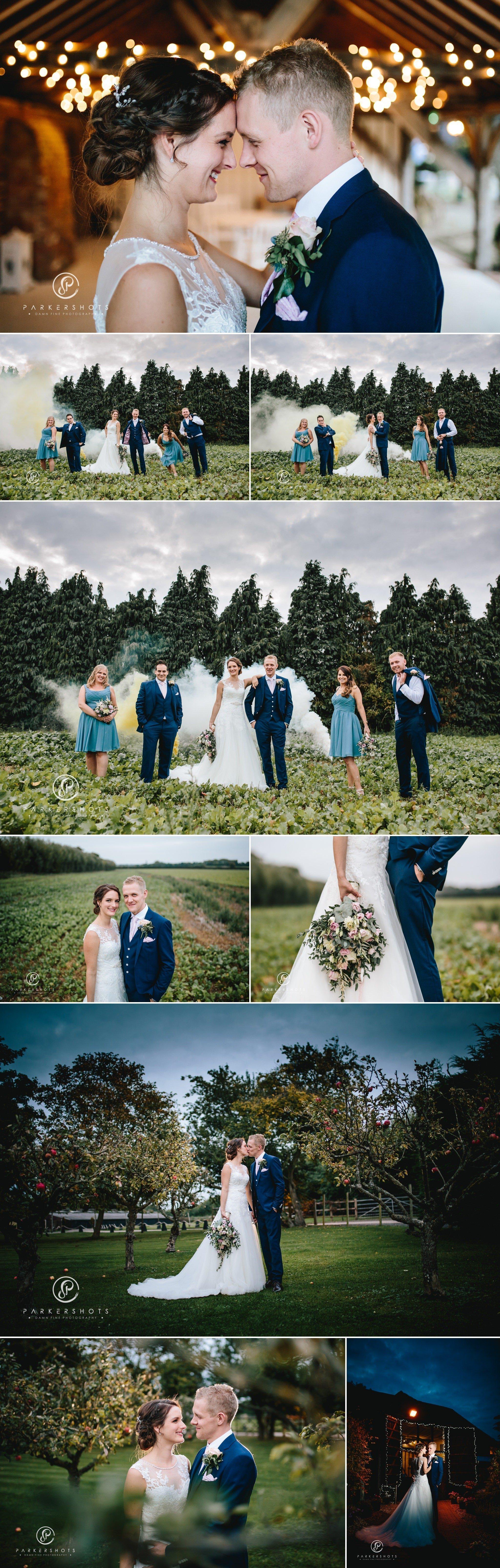 Alternative wedding photography at Winters Barns