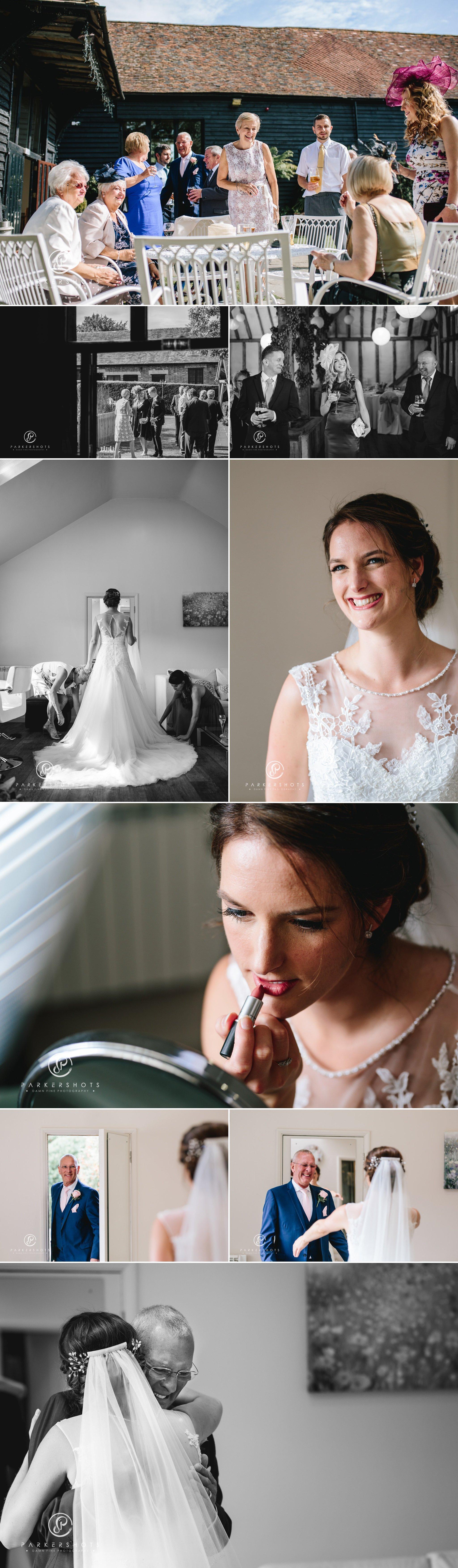 Bridal prep wedding photography and bridal portraits at Winters Barns