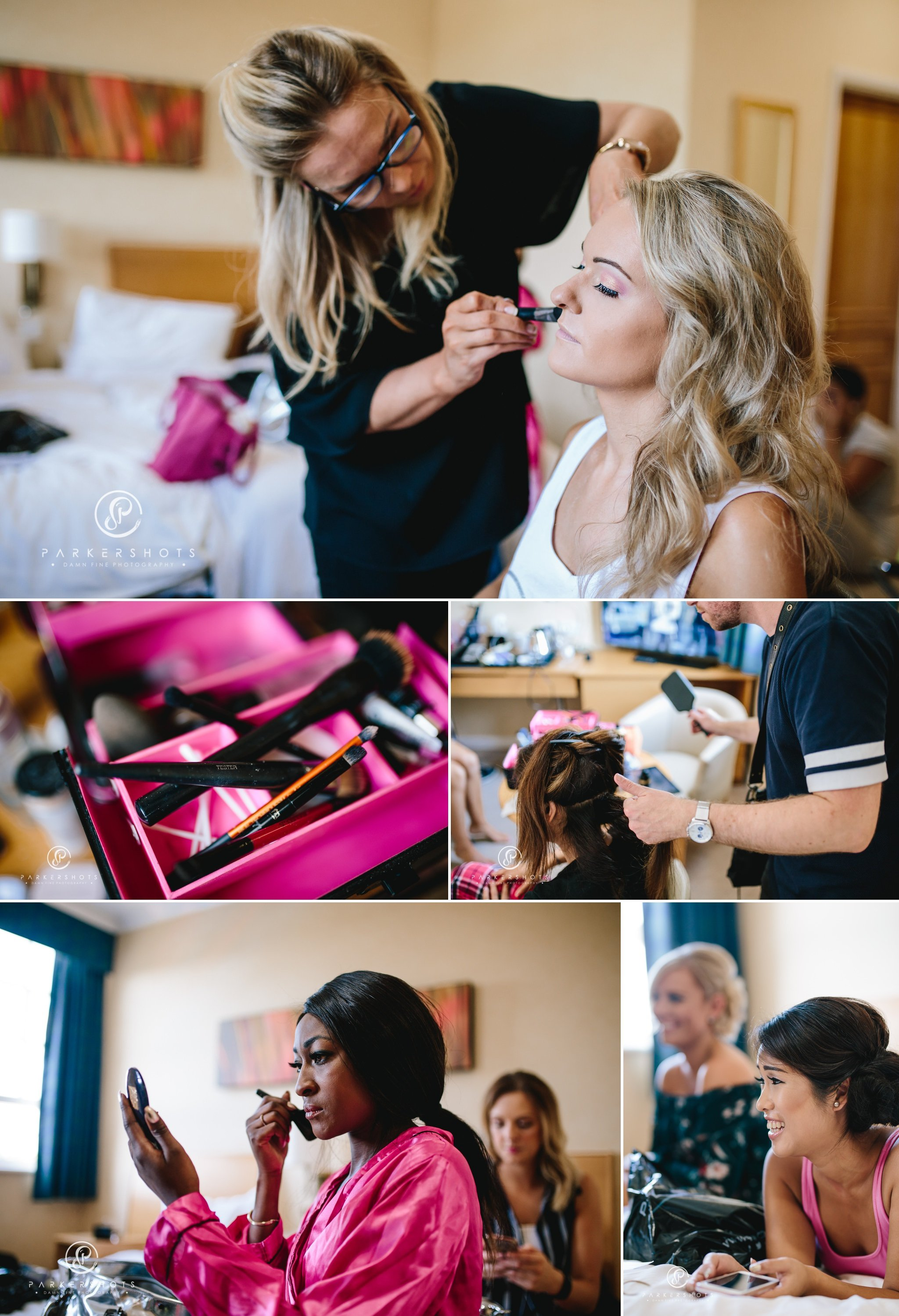 Bridal prep by sussex wedding photographer