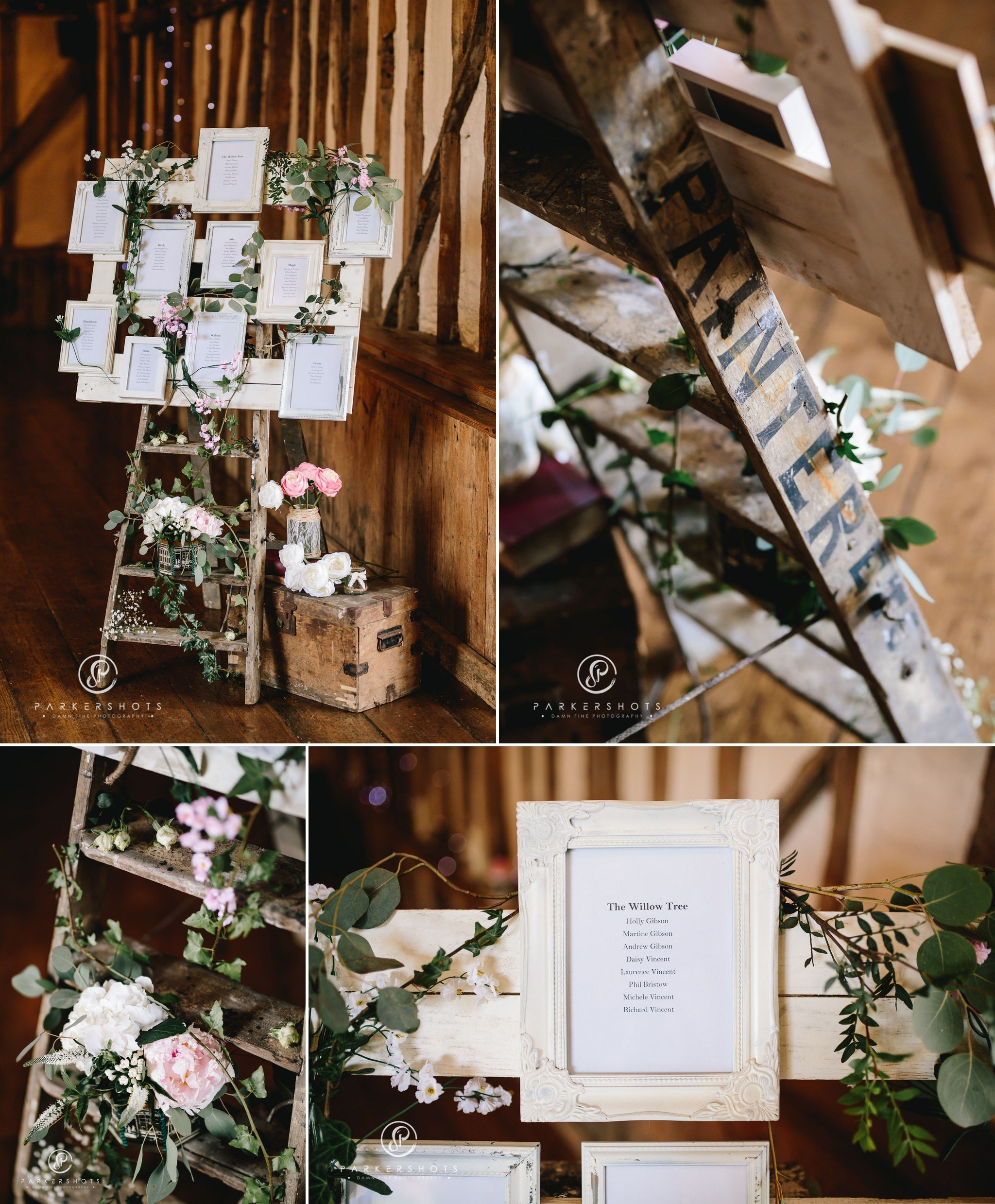 Amazing table plan at wedding at Winters Barns