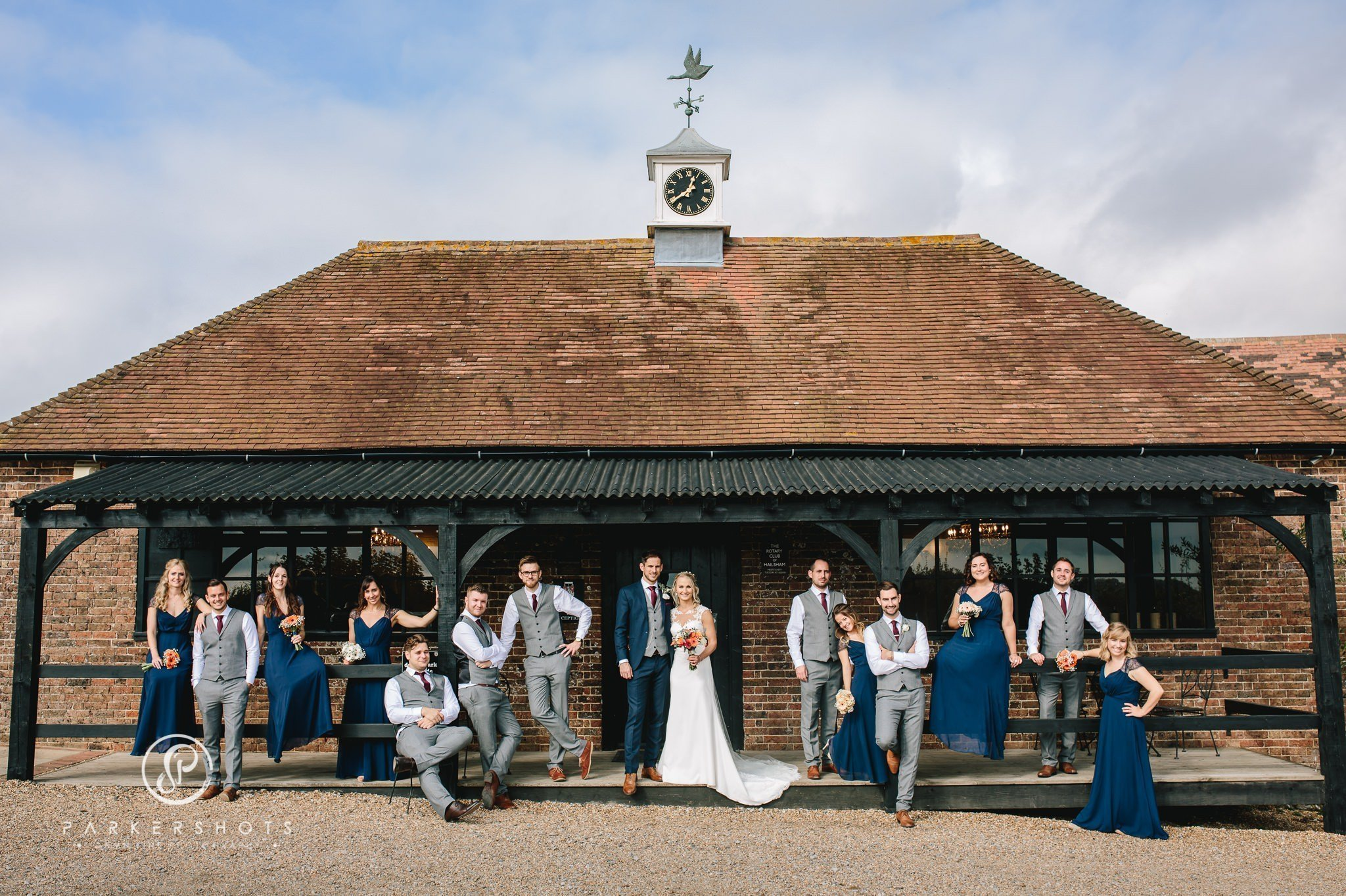Wedding party at Blackstock Country Estate