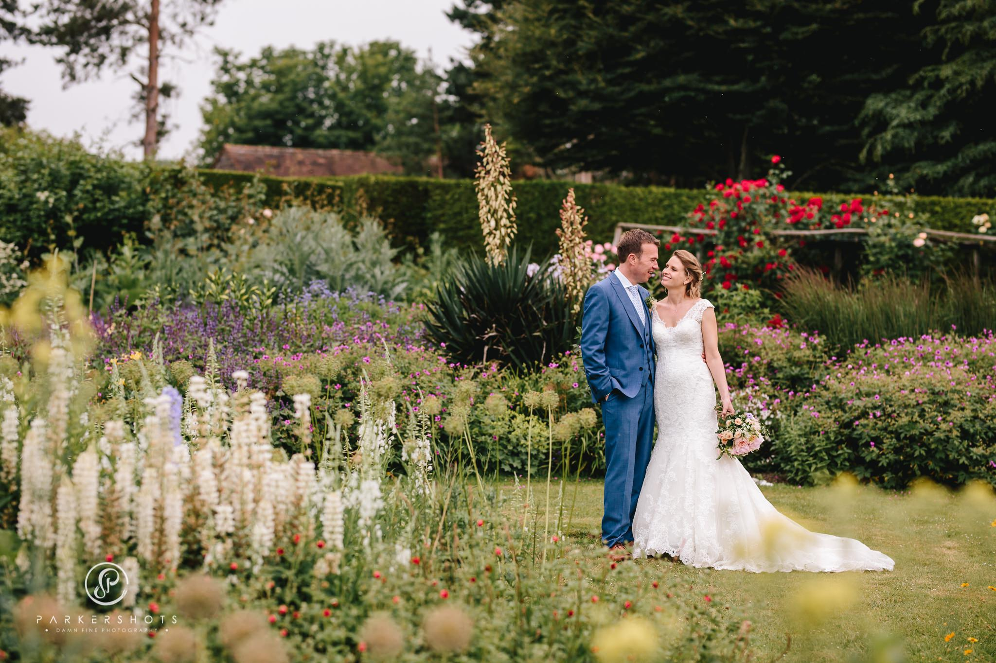 Nettlestead Place wedding photographer photo of bride and groom