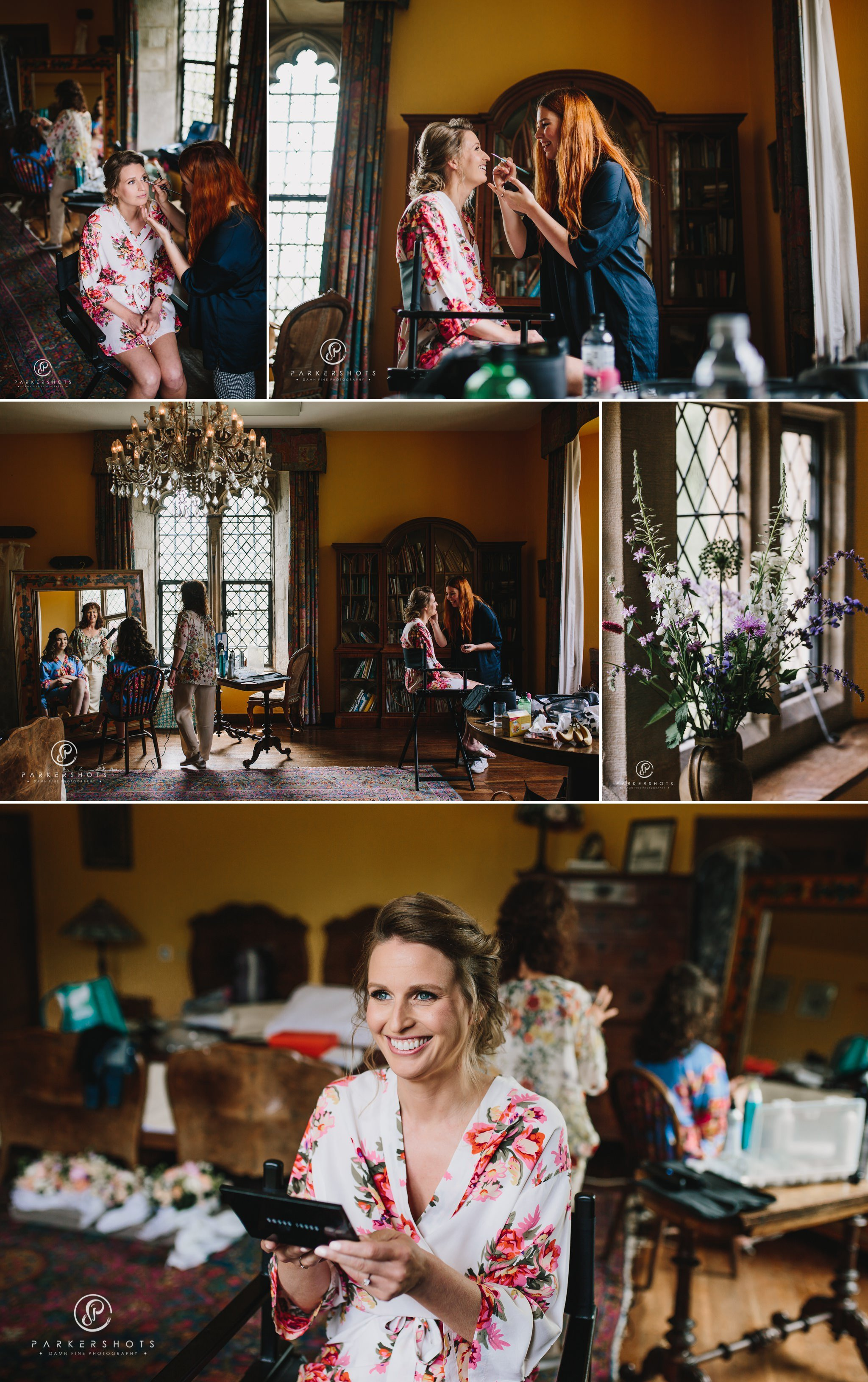Wedding Photography of bridal preparation at Nettlestead Place