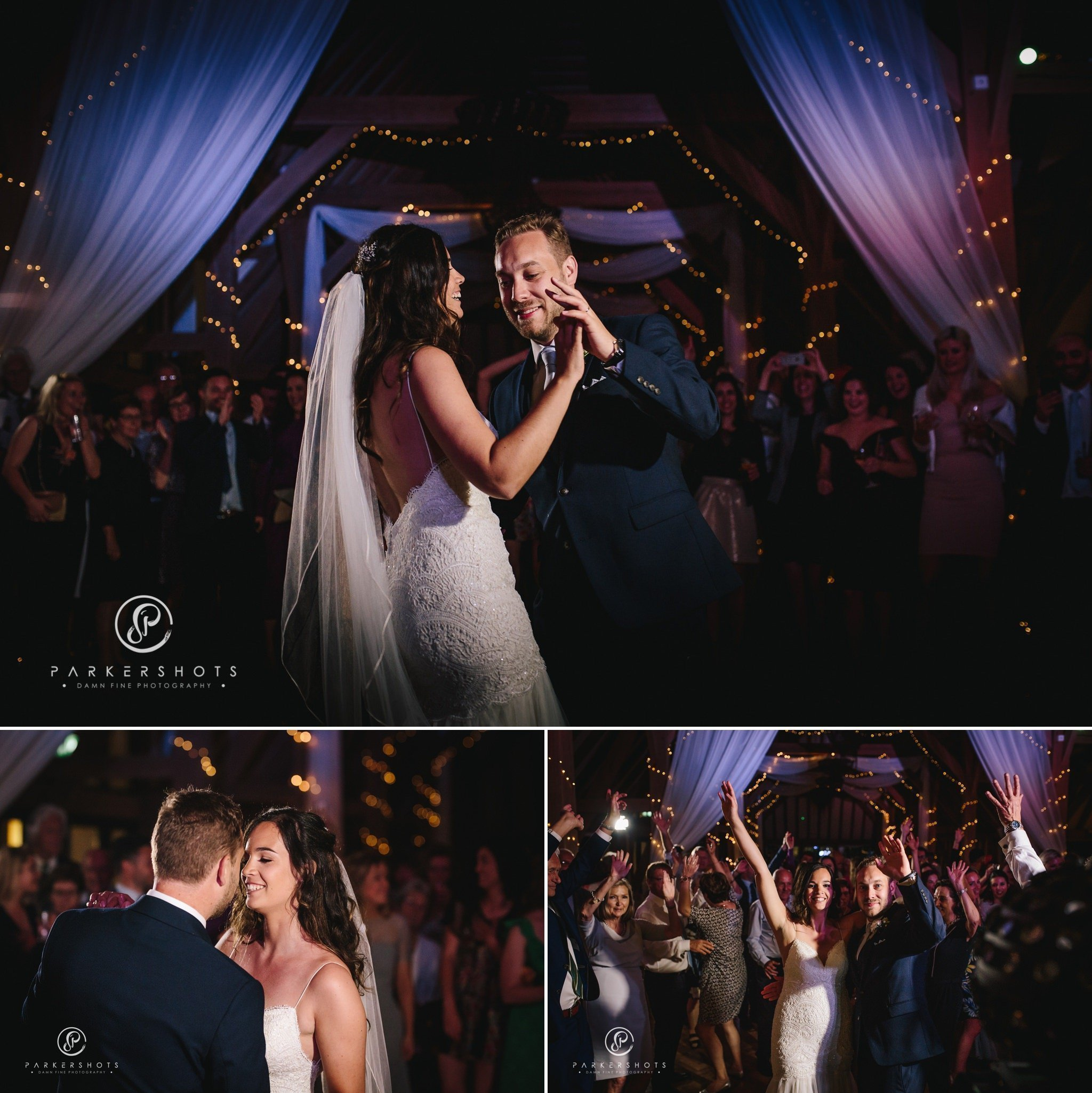 Old kent barn wedding photographer - first dance