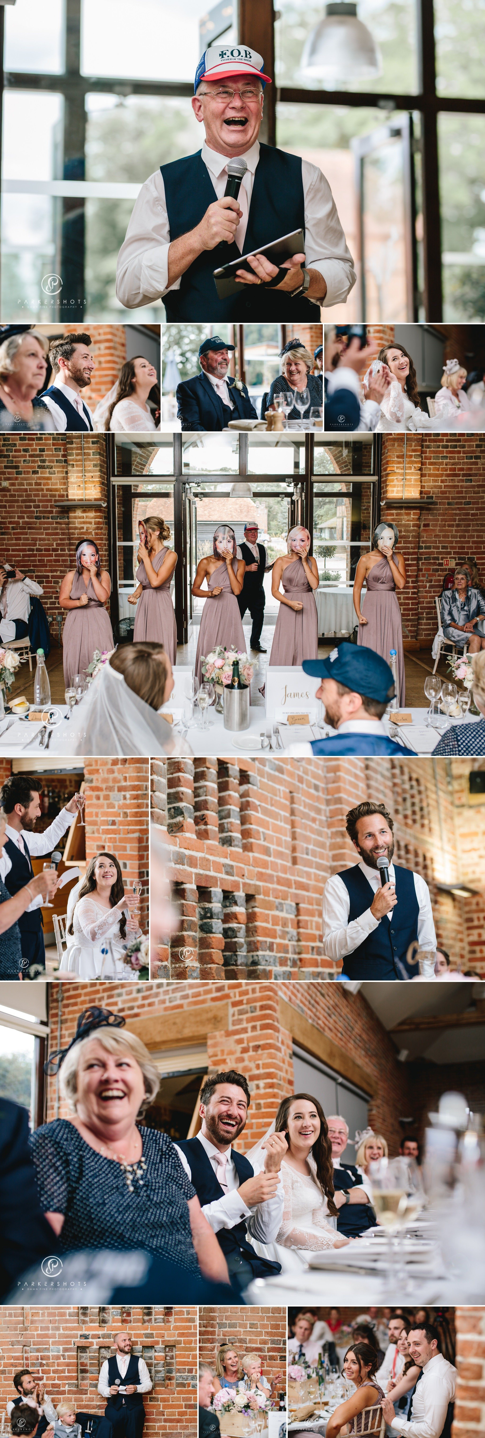 wedding speeches by Wasing Park Wedding Photographer
