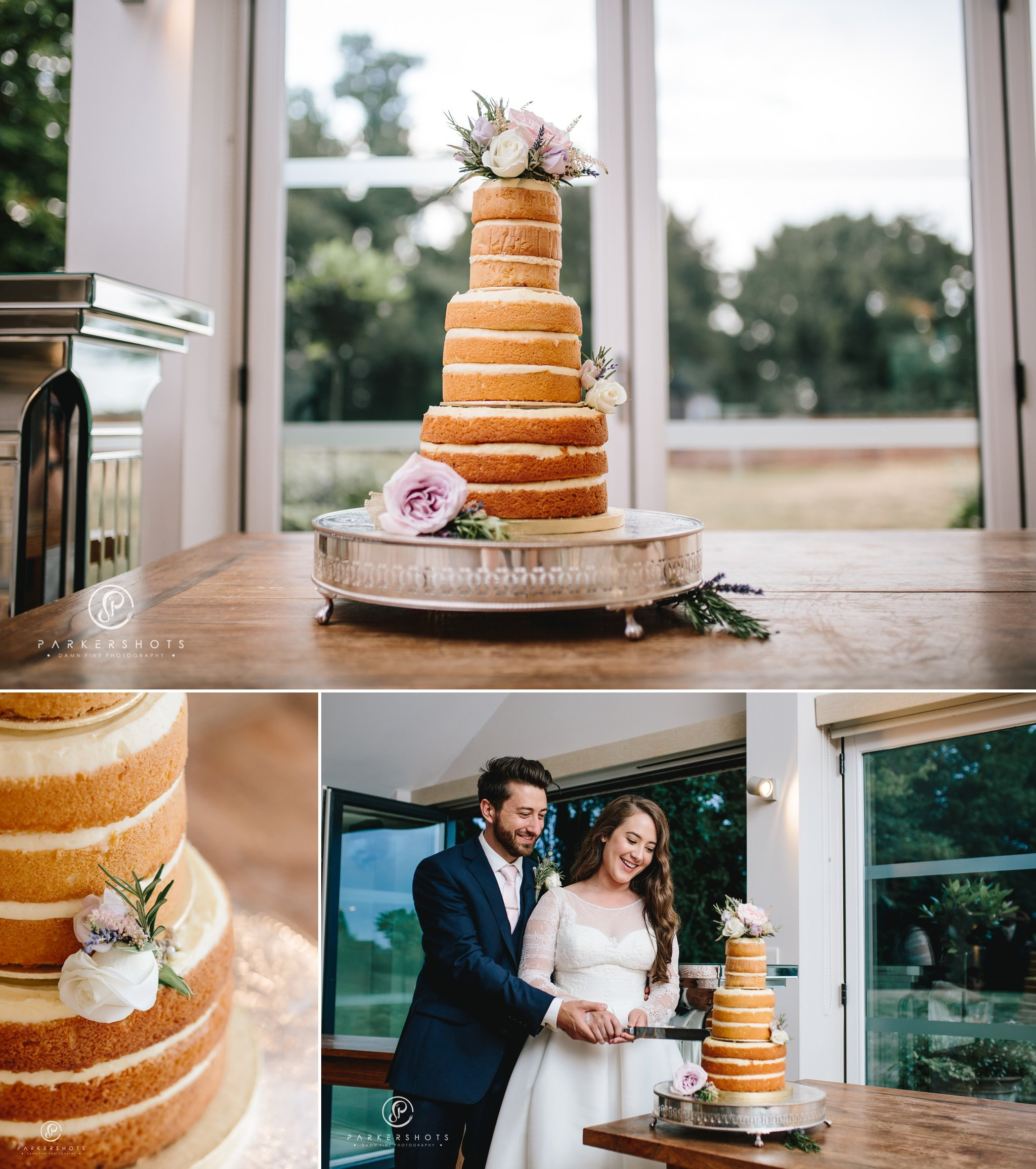wedding cake by Wasing Park Wedding Photographer