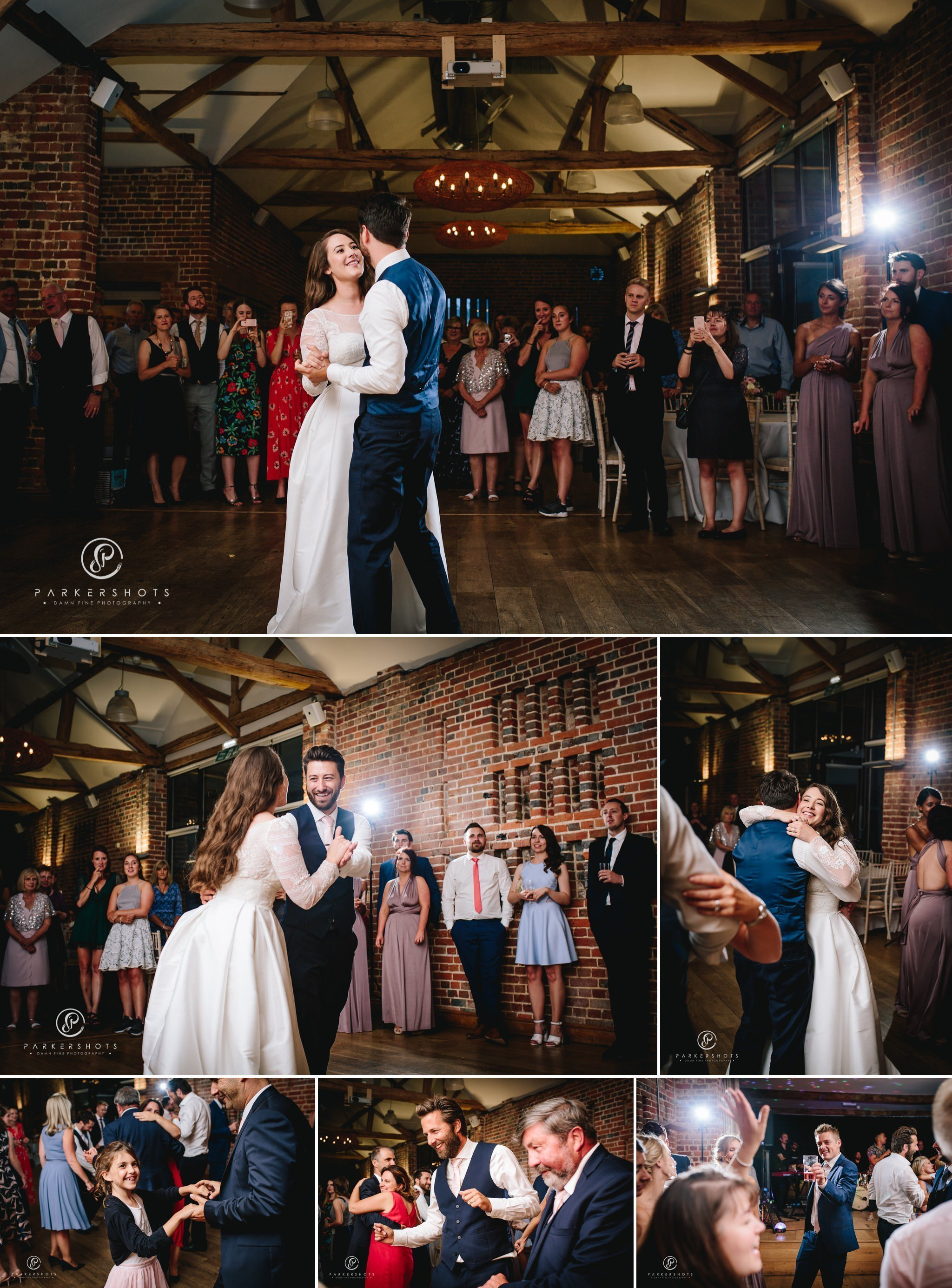 the first dance by Wasing Park Wedding Photographer