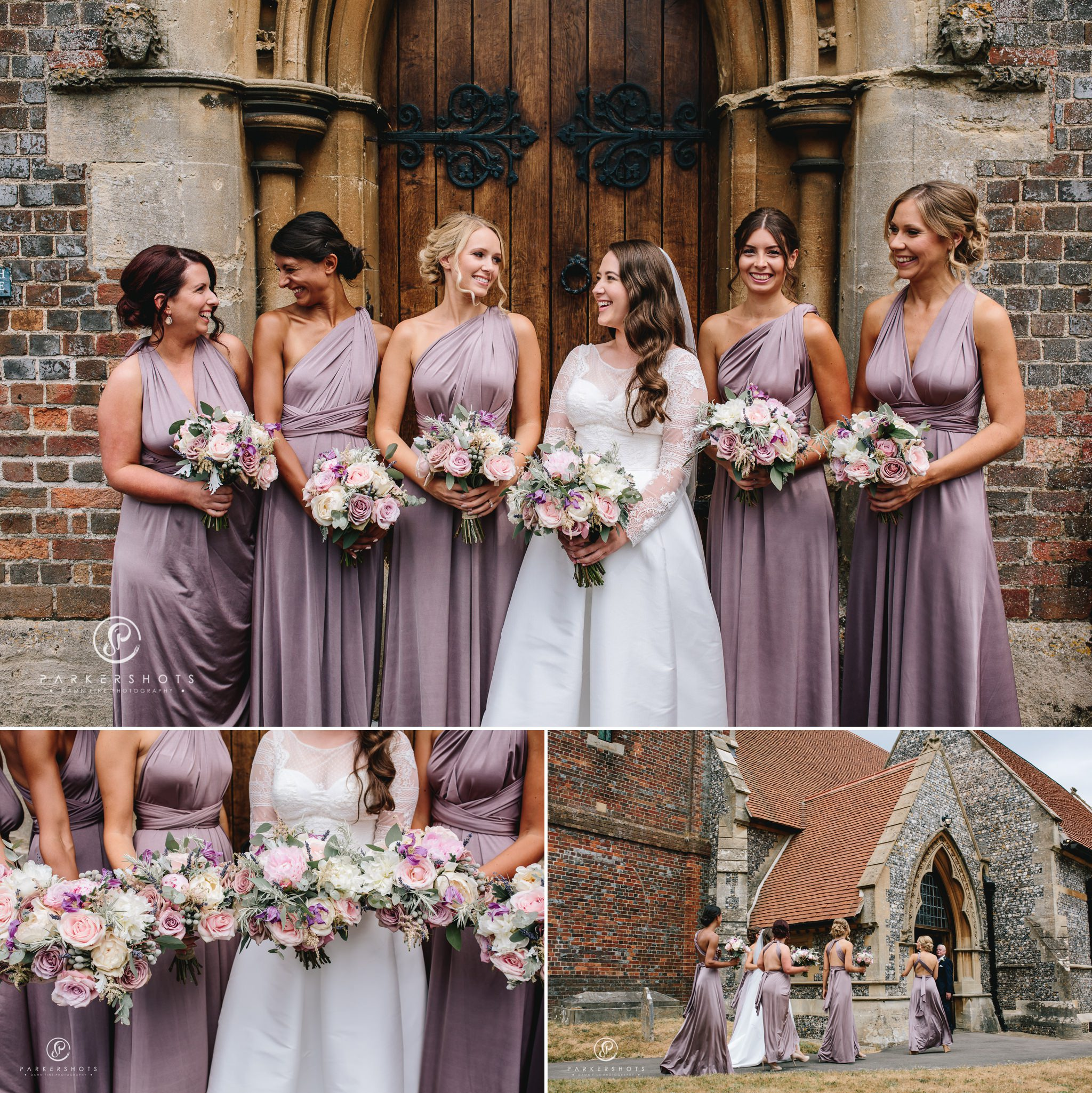 bridal party by Wasing Park Wedding Photographer