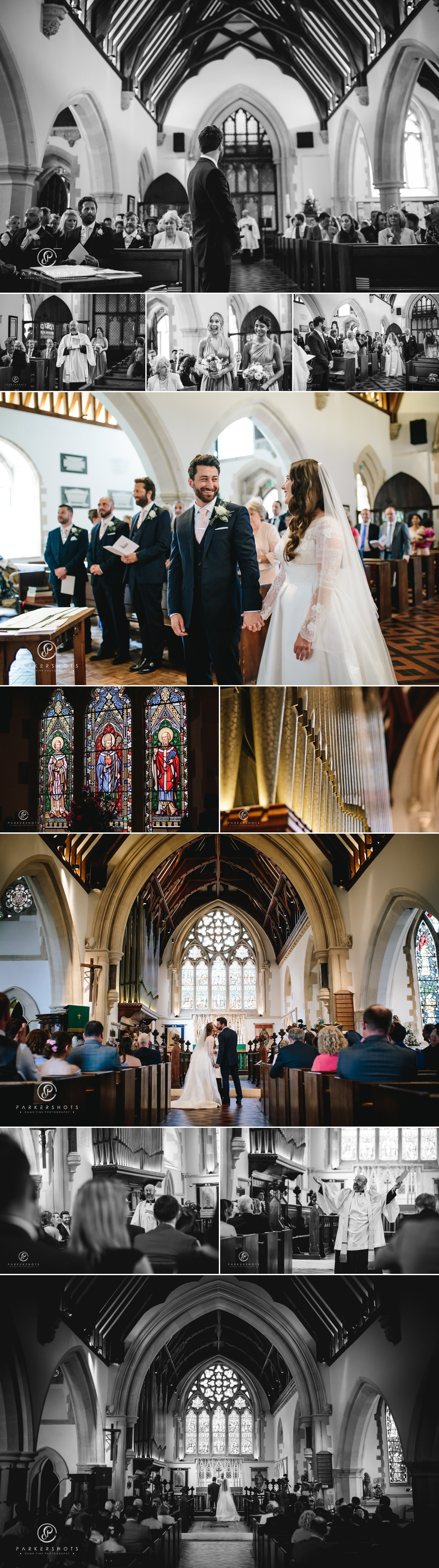church ceremony by Wasing Park Wedding Photographer