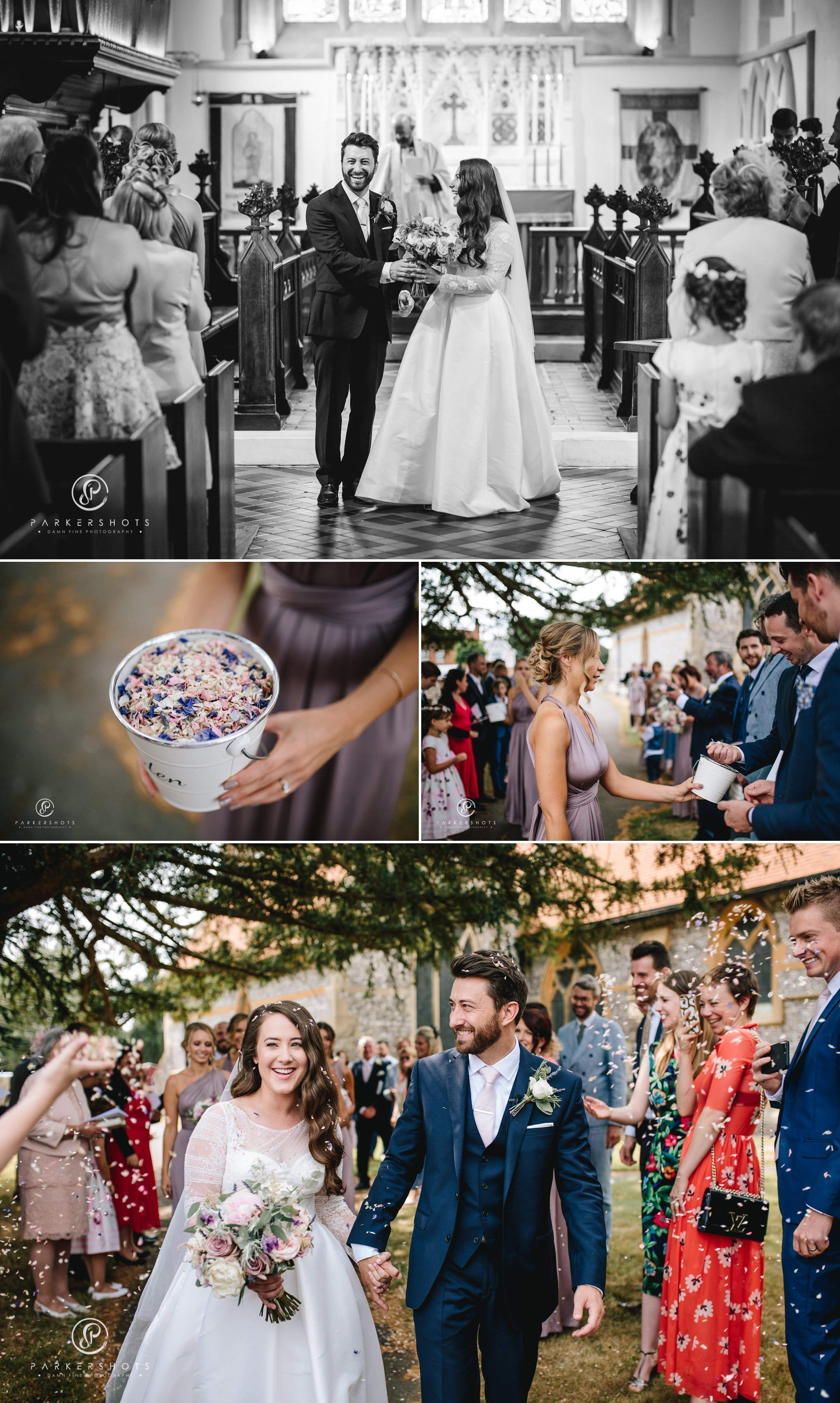 confetti celebrations by Wasing Park Wedding Photographer