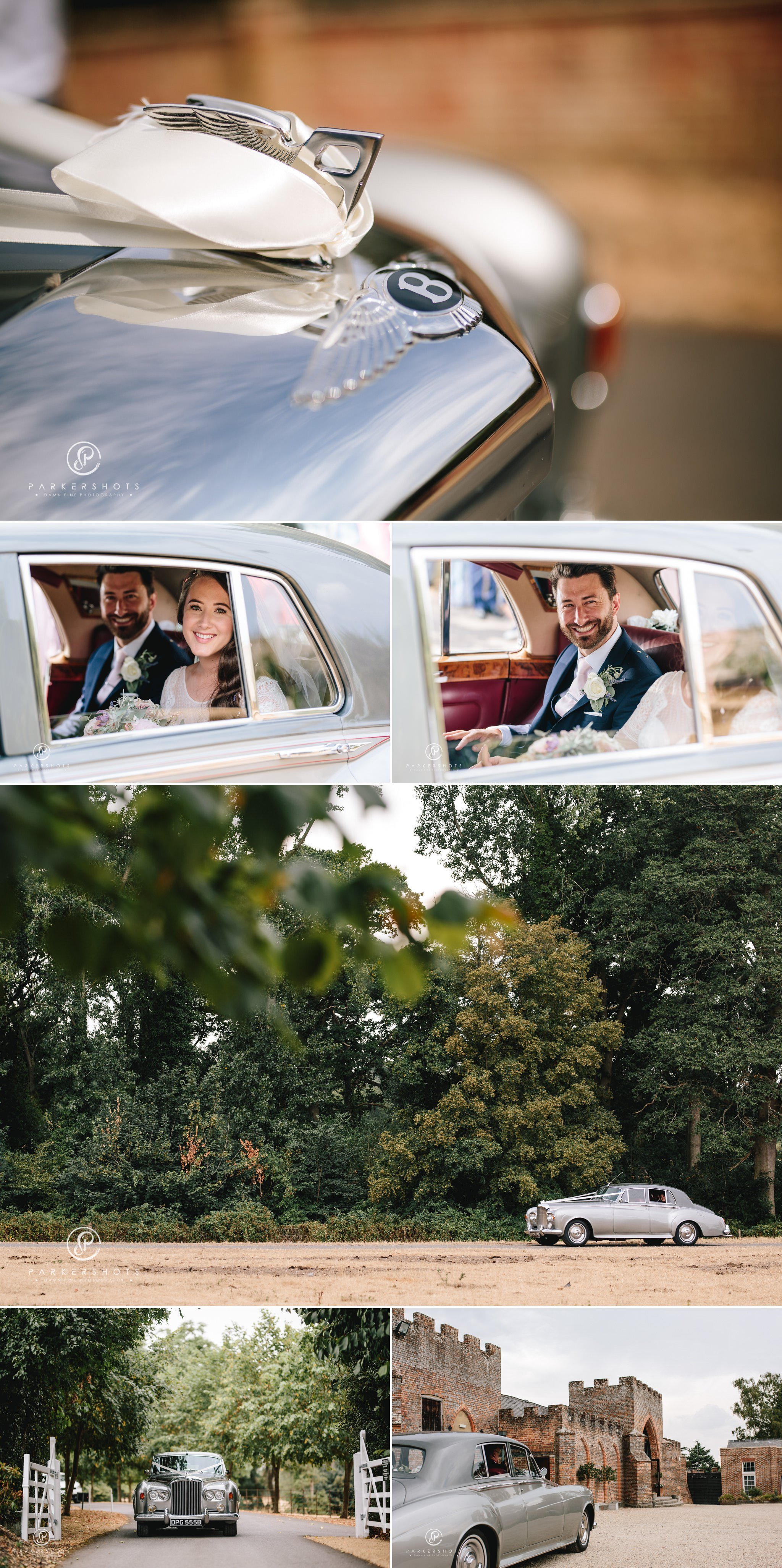 arriving at wasing park by Wasing Park Wedding Photographer
