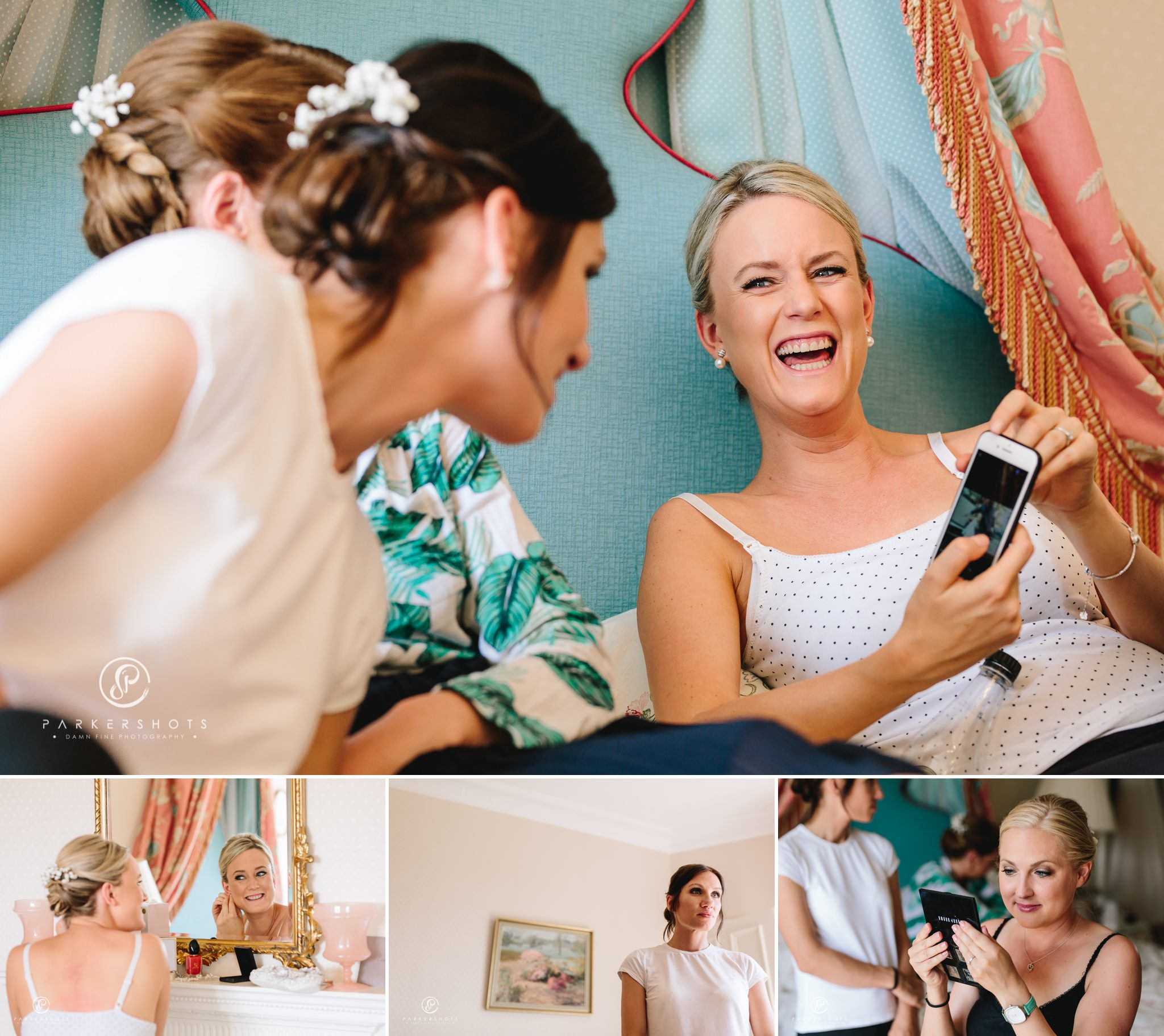Wadhurst Castle Wedding Photographer - Bride and bridesmaids