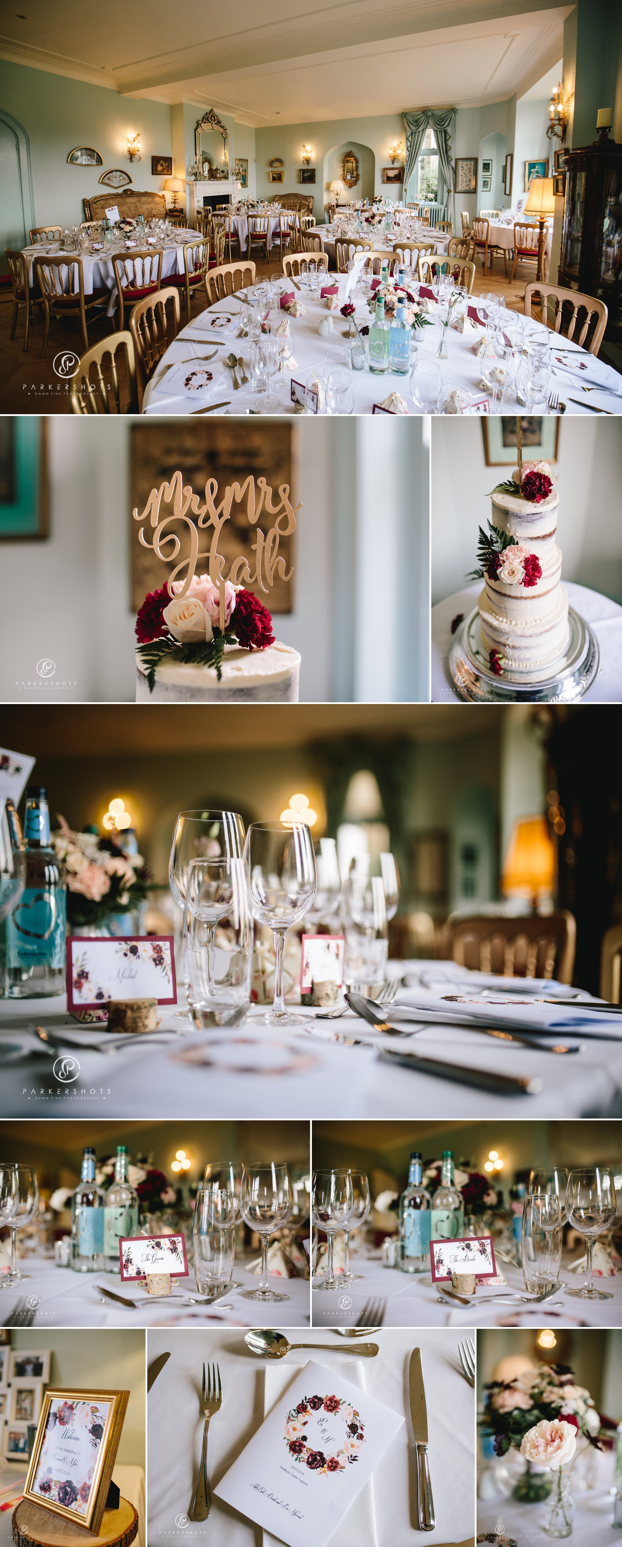 Wadhurst Castle Wedding Photographer - The wedding breakfast room
