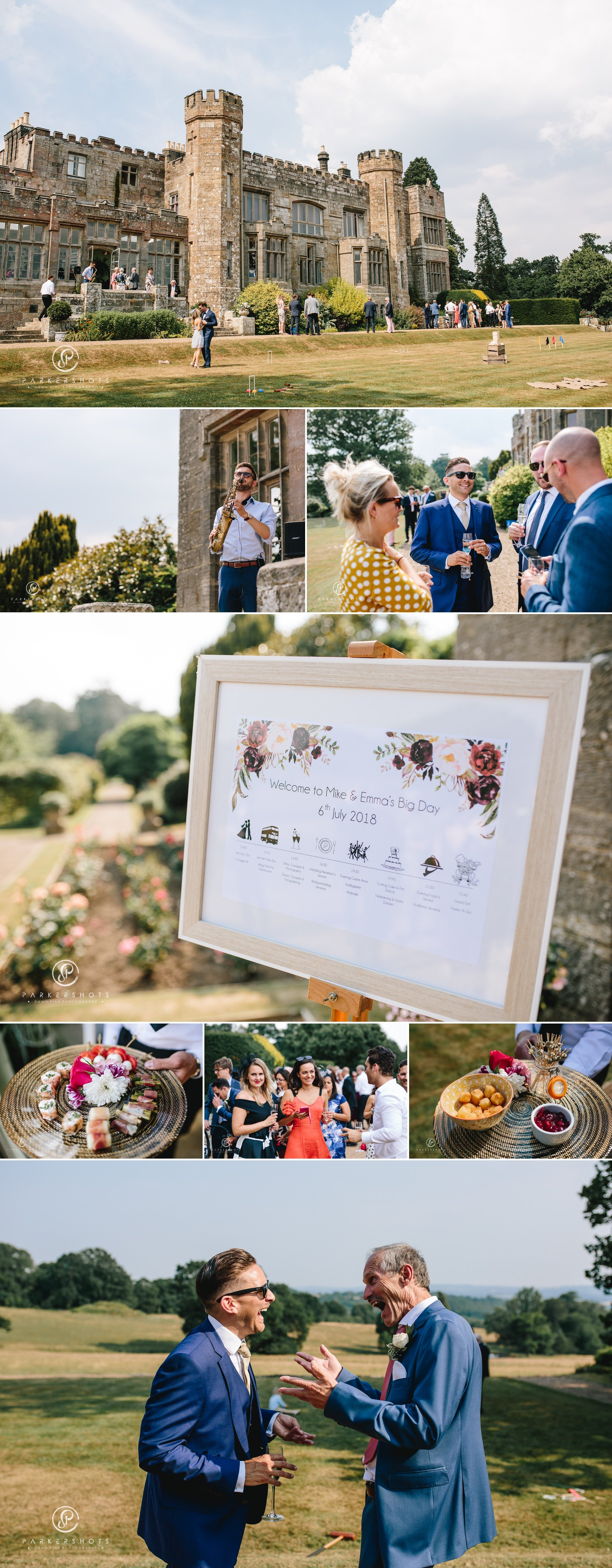 Wadhurst Castle Wedding Photographer - Drinks reception