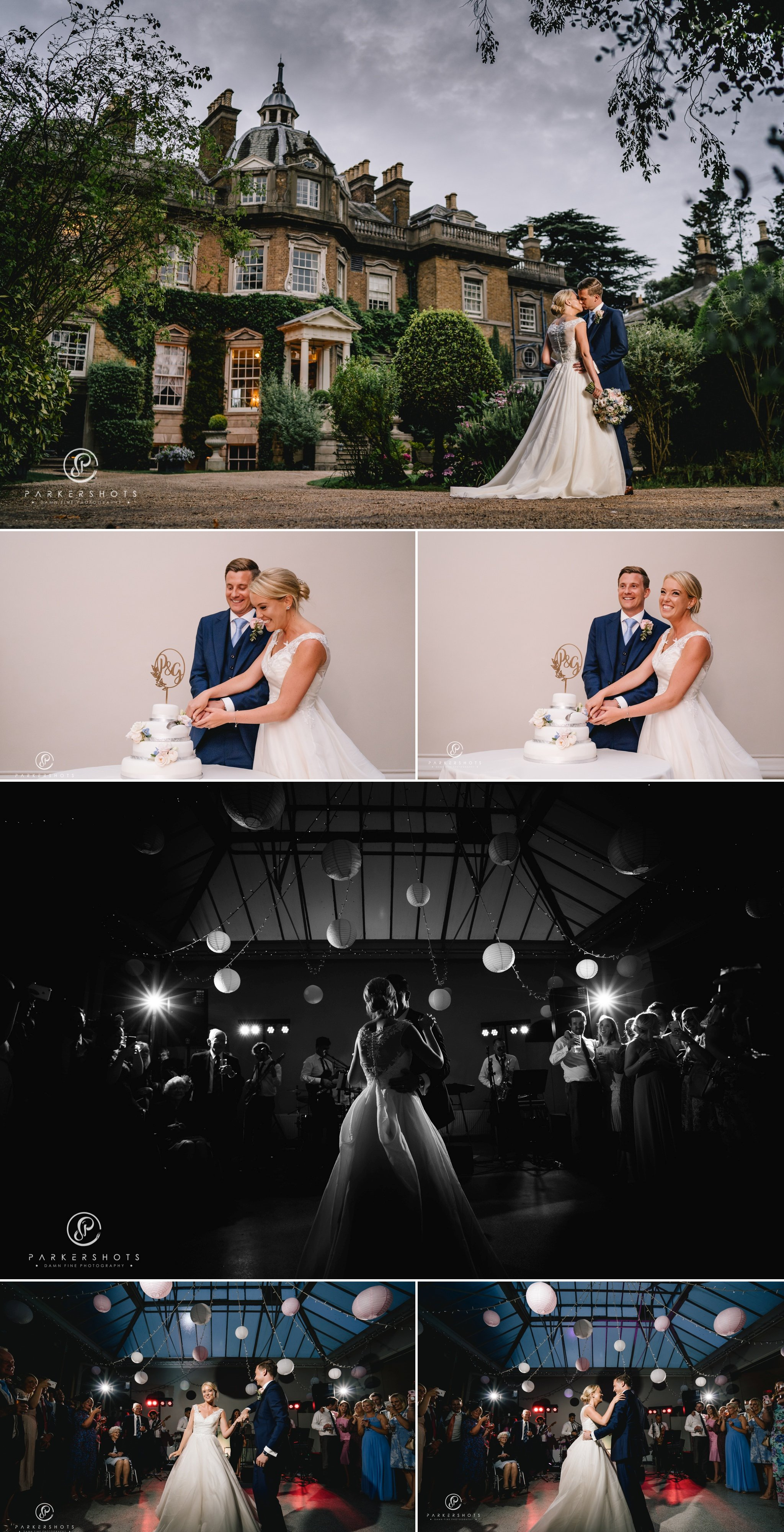Hampton Court House Wedding Photographer - the cake and first dance