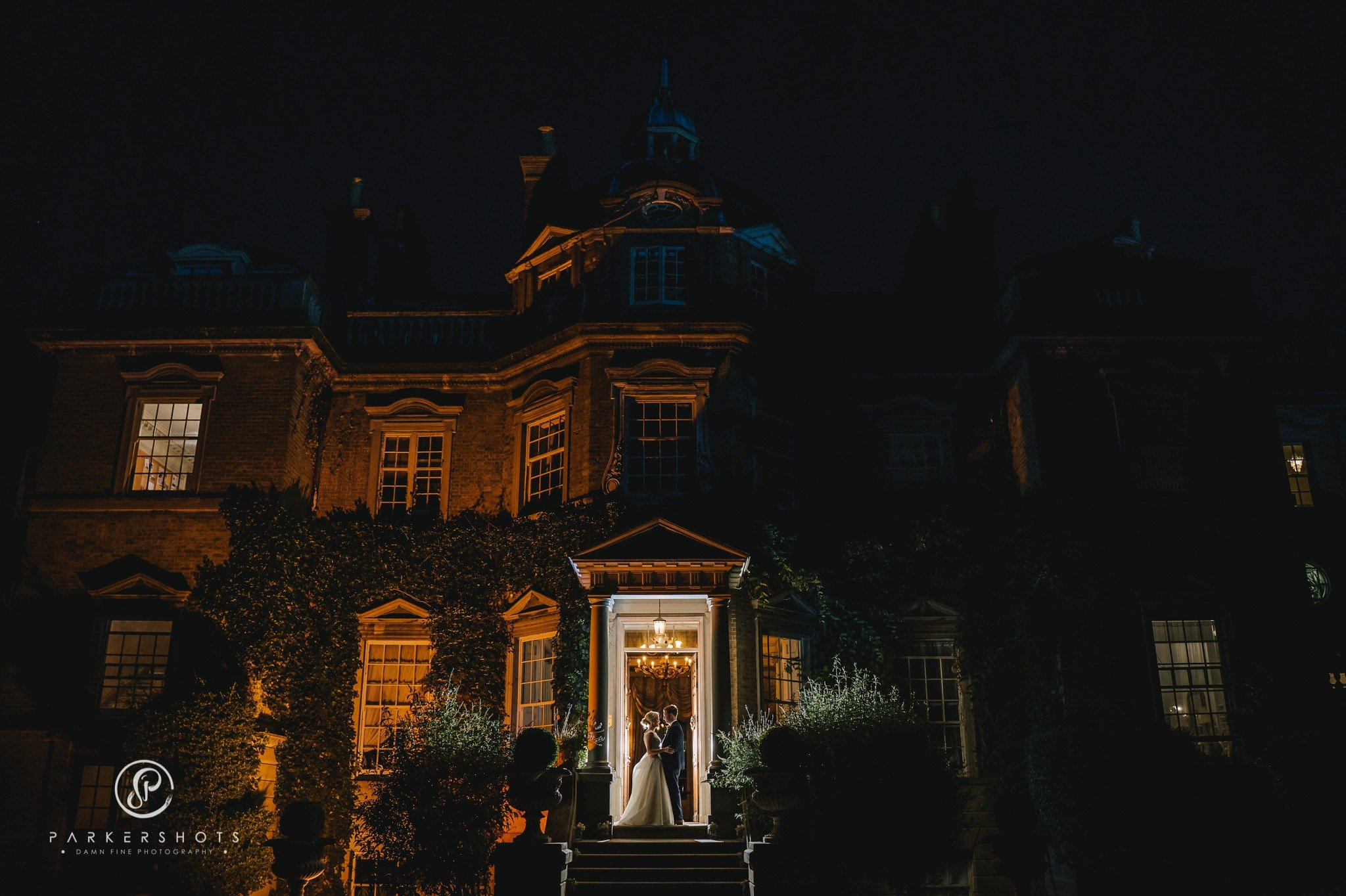 Hampton Court House Wedding Photographer - night portrait