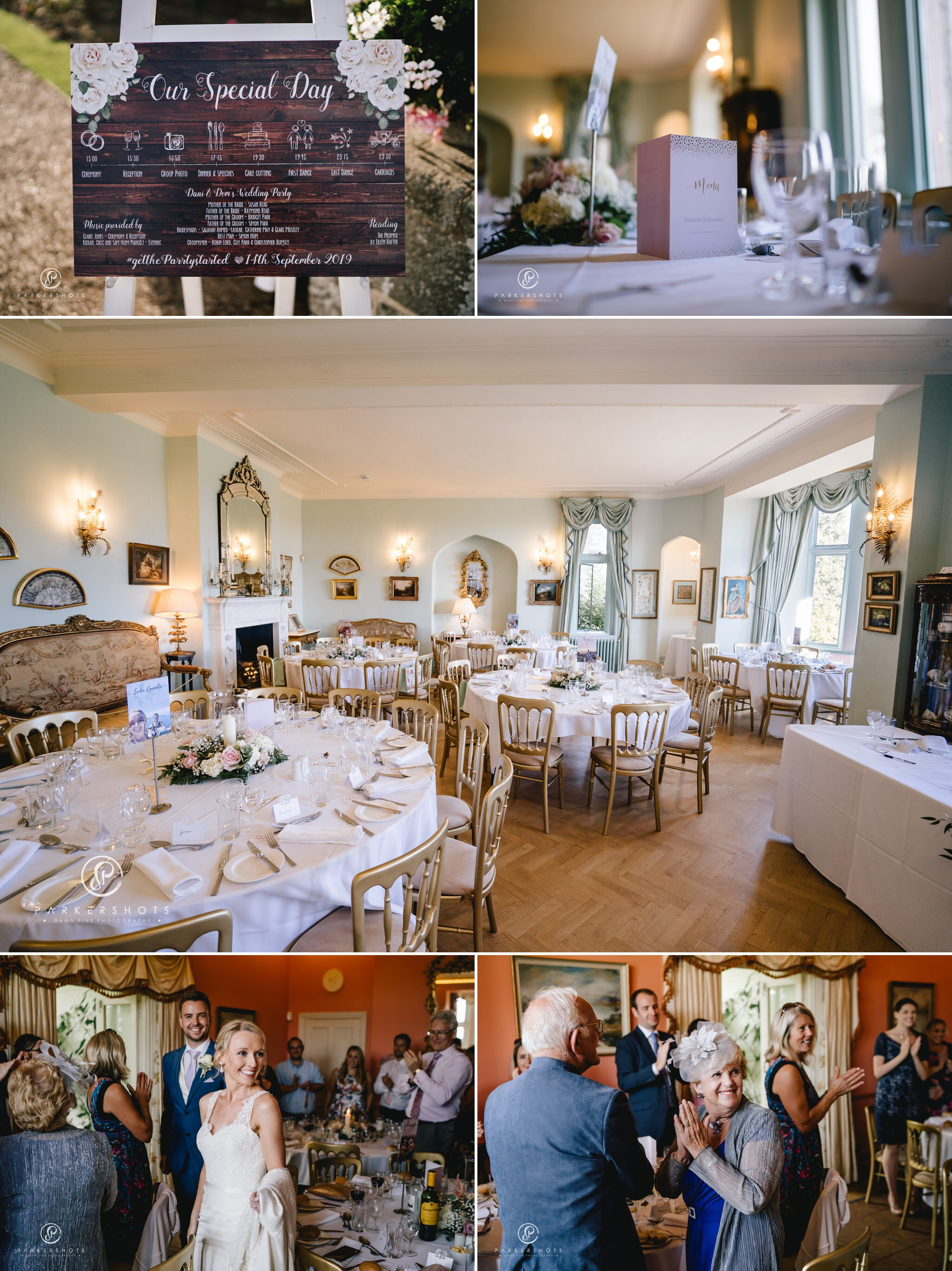 Wadhurst Castle Wedding Photographer Wedding Breakfast Room