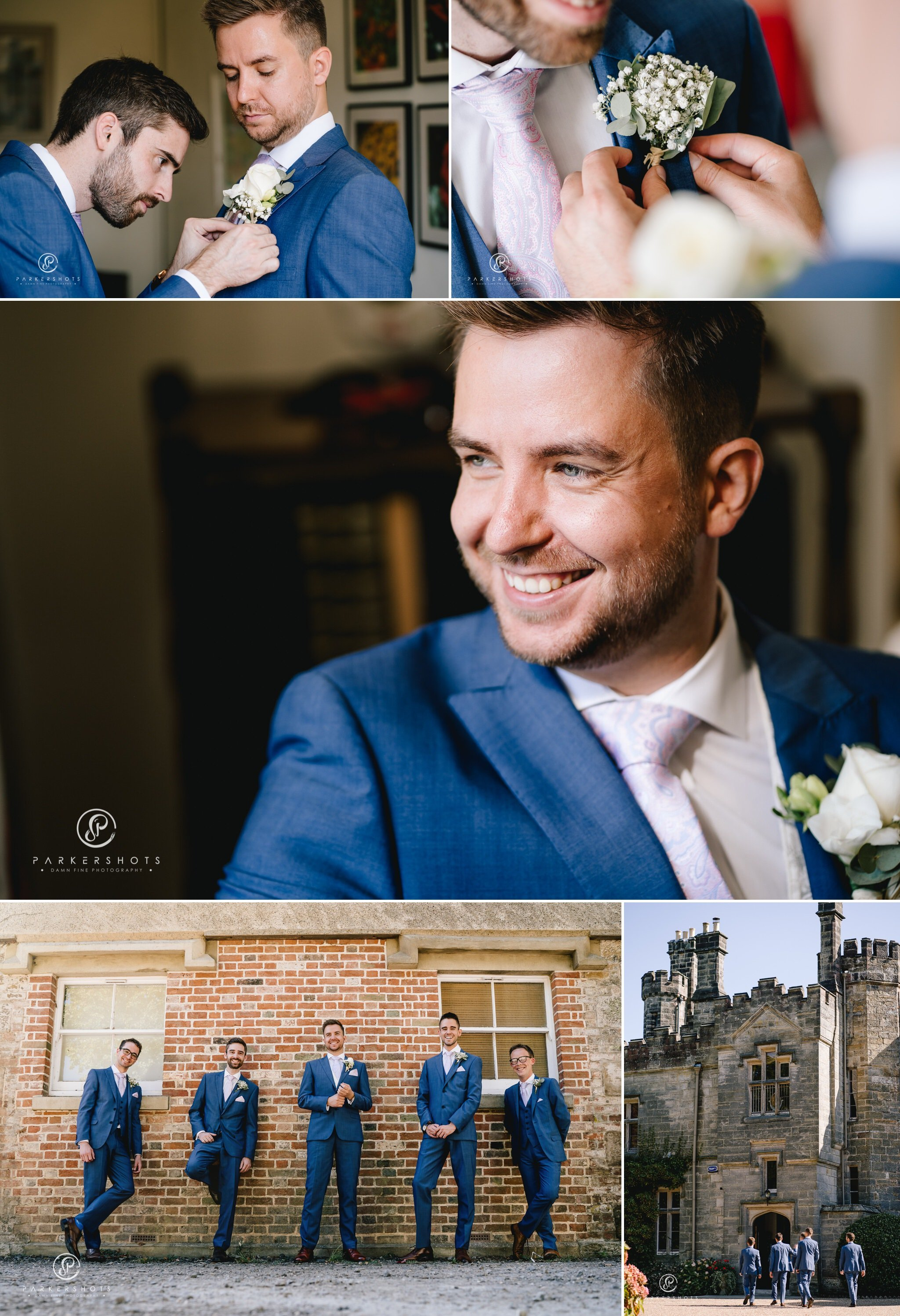 Wadhurst Castle Wedding Photographer Groom Portraits