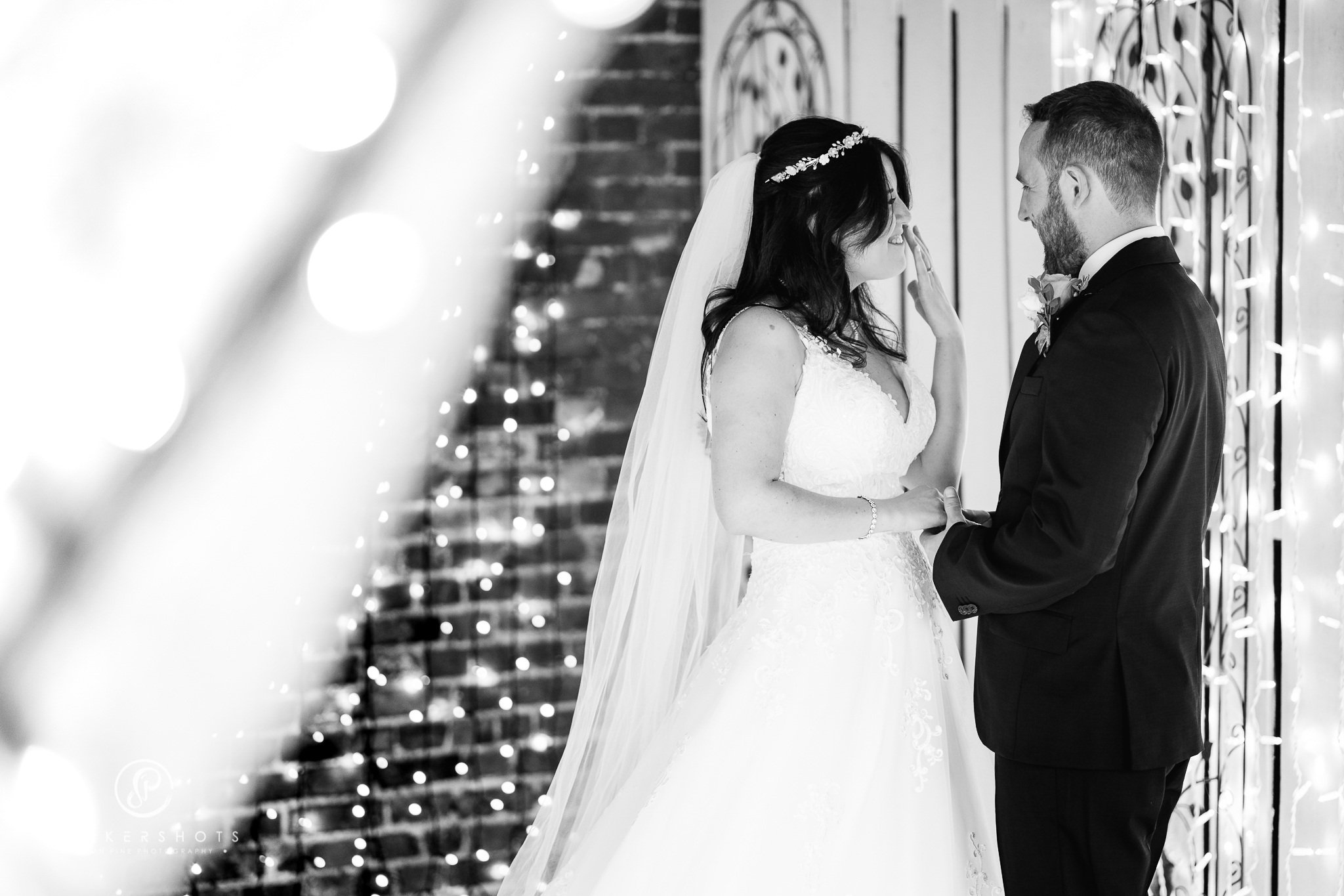 wedding photograph at Winters Barns by recommended photographer, Parkershots