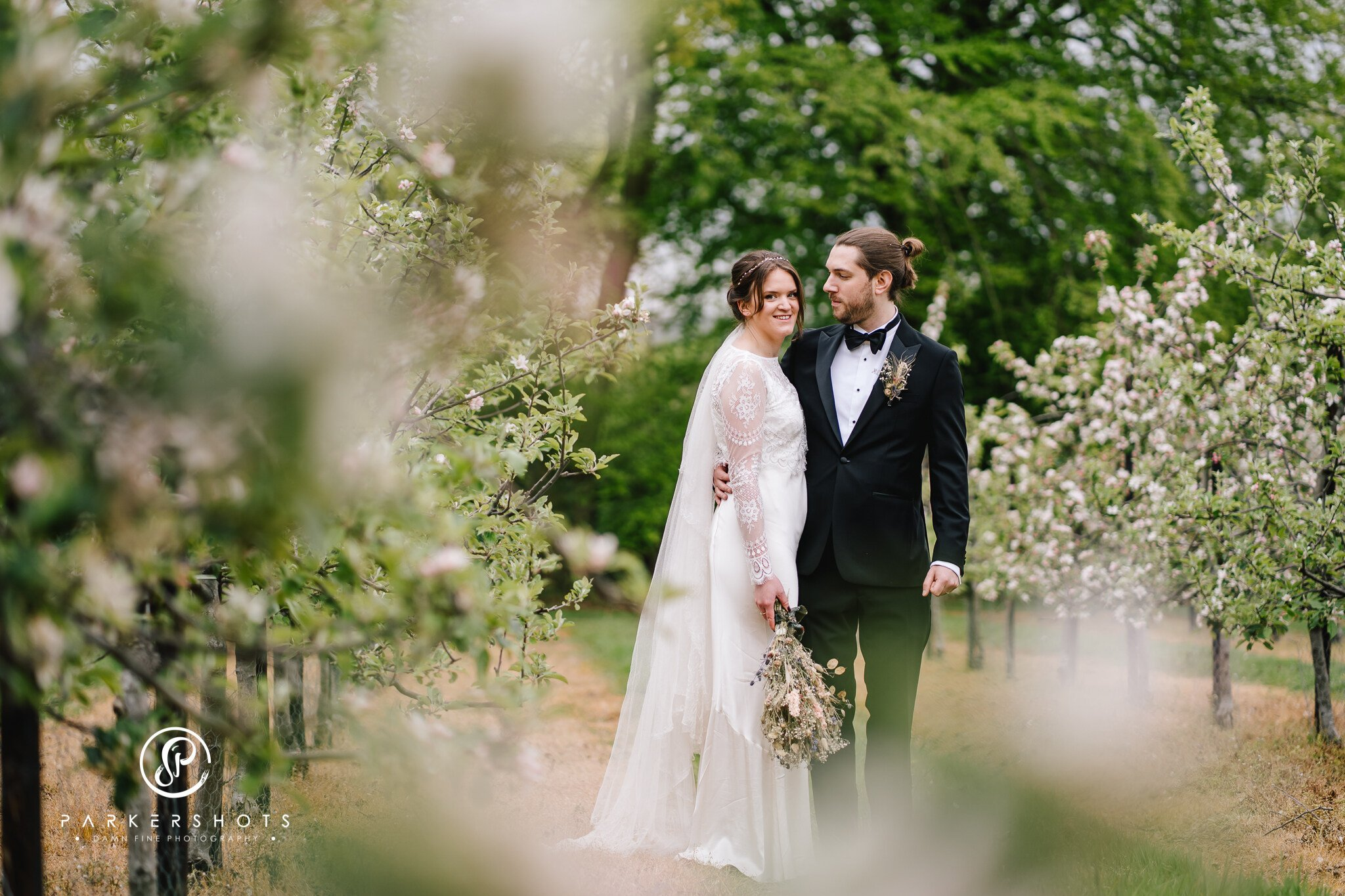 Wedding Photography of bride and groom married at All Saints Church Brenchley